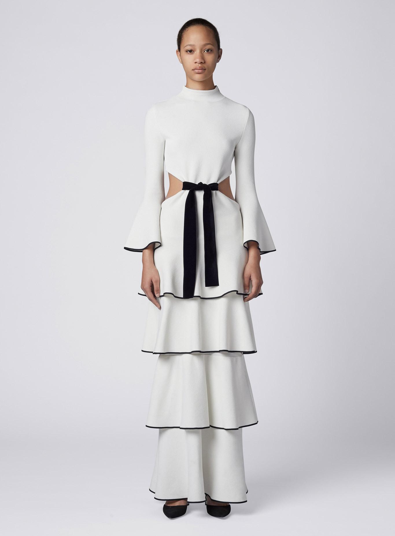 Proenza Schouler Tiered Ruffle Dress In White Lyst