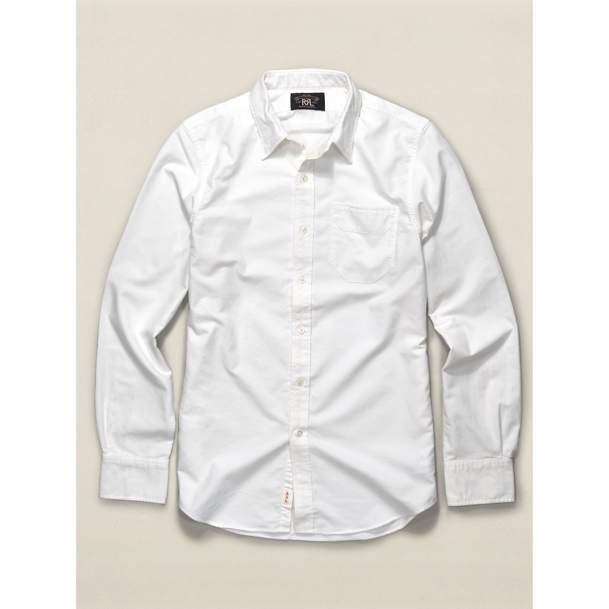 Rrl Cotton Oxford Shirt In White For Men Lyst