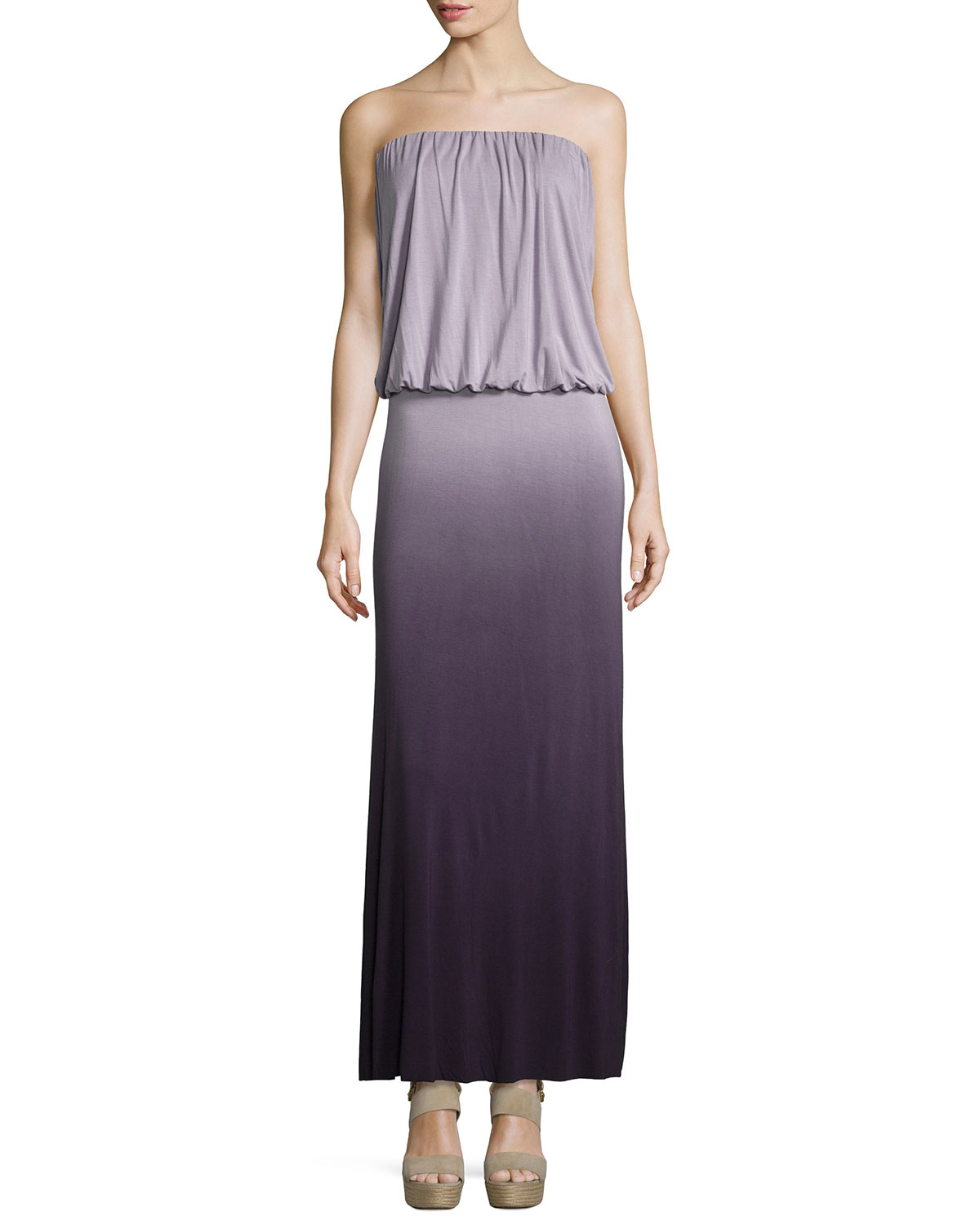 Young fabulous & broke Sydney Strapless Ombre Maxi Dress ...