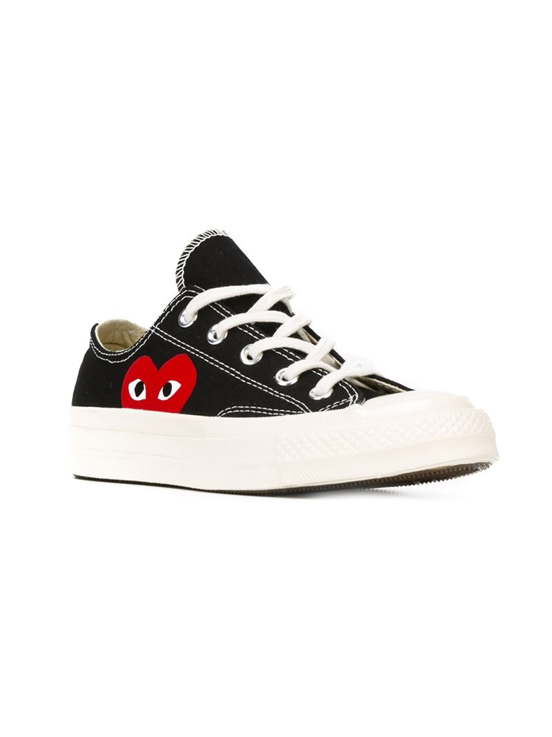play comme des gar ons converse 39 chuck taylor 39 sneakers in black lyst. Black Bedroom Furniture Sets. Home Design Ideas