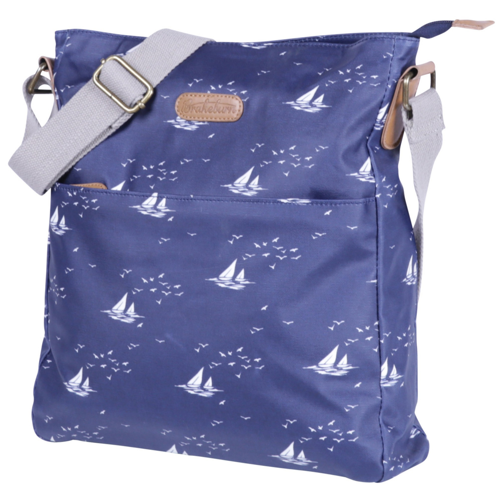 c29e7274a66 Brakeburn Boats And Birds Large Saddle Bag in Blue - Lyst