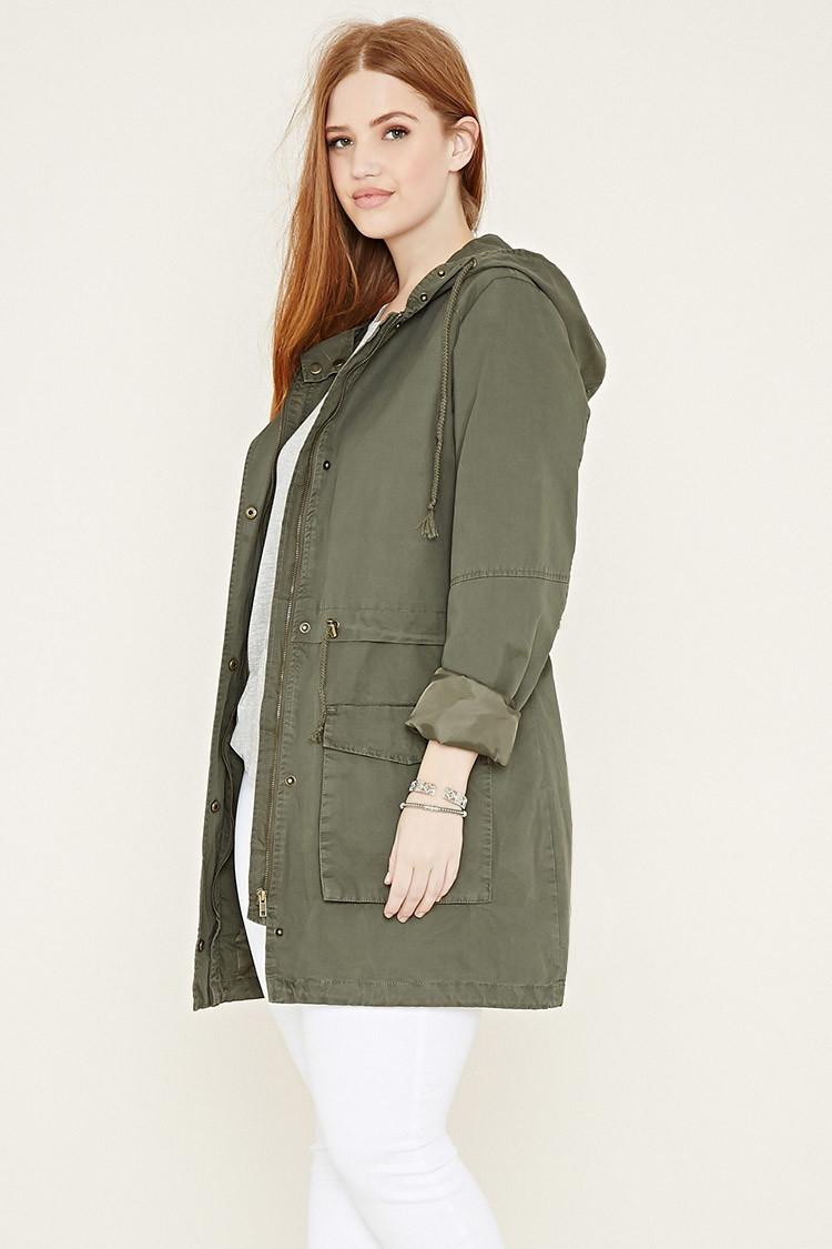 Utility Jacket Jackets And Nike: Forever 21 Plus Size Utility Jacket In Green (Olive)