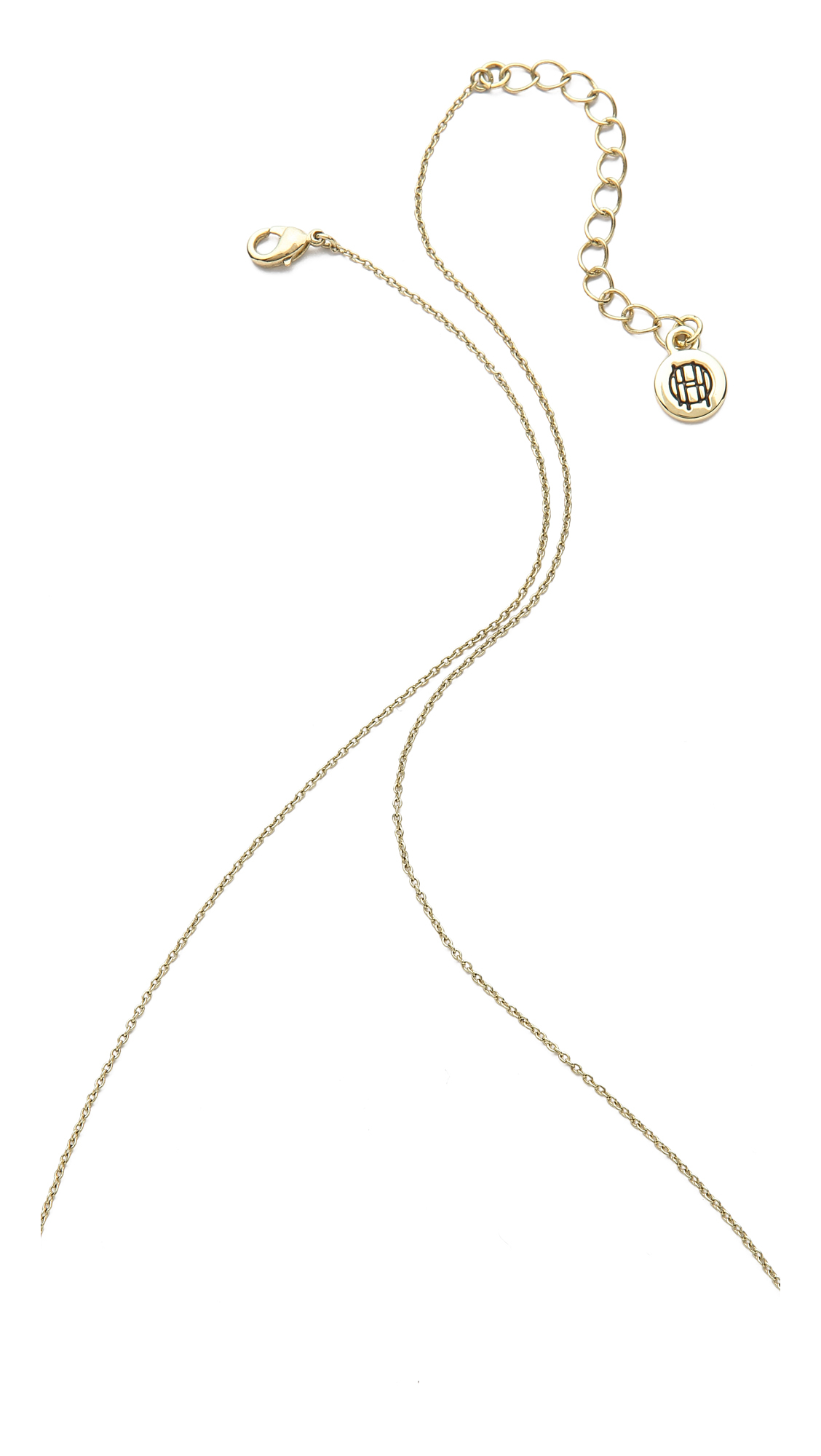 House of Harlow 1960 Glacier Pendant Necklace - Gold/Black/Clear in Metallic