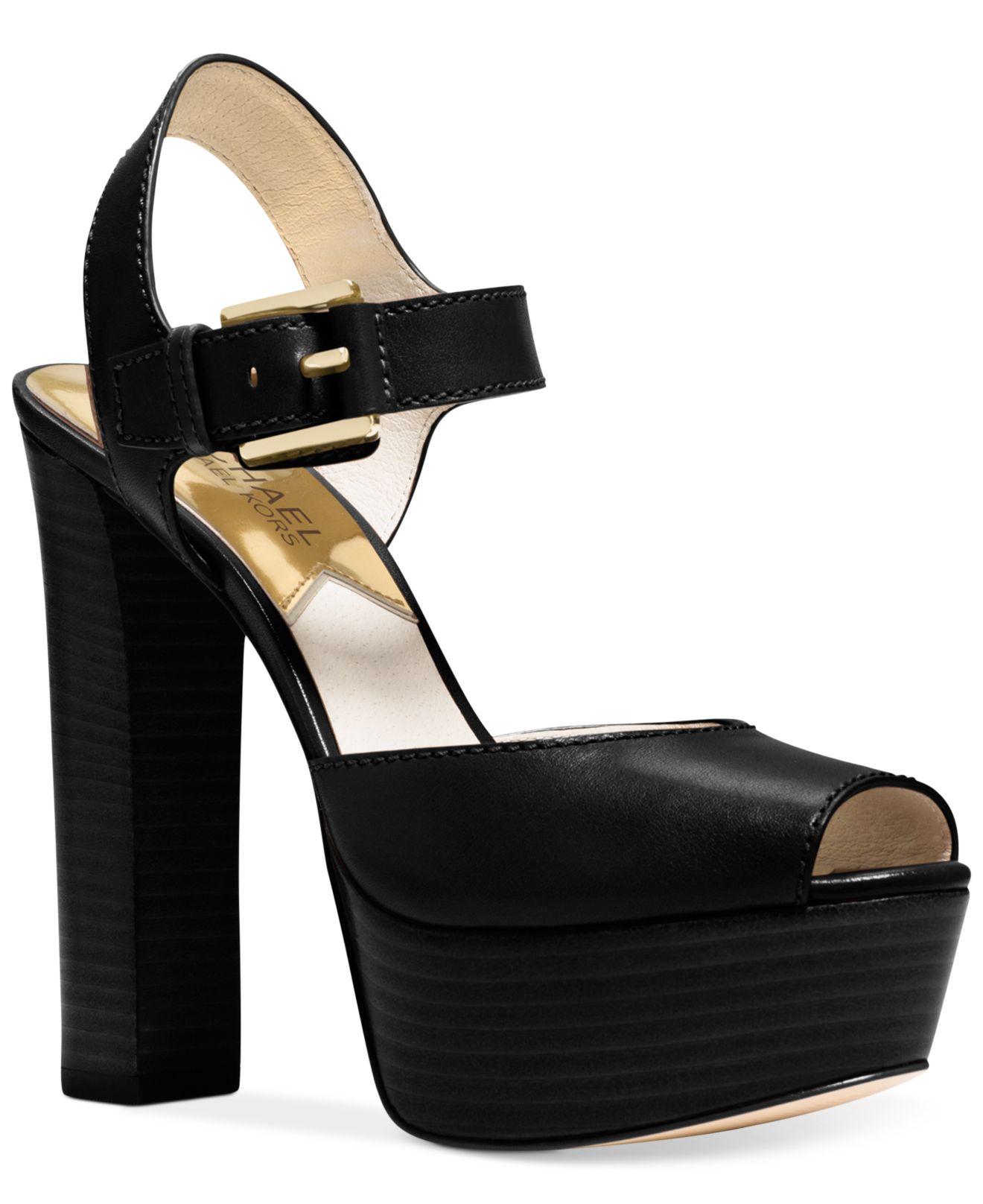 michael kors michael platform dress sandals in