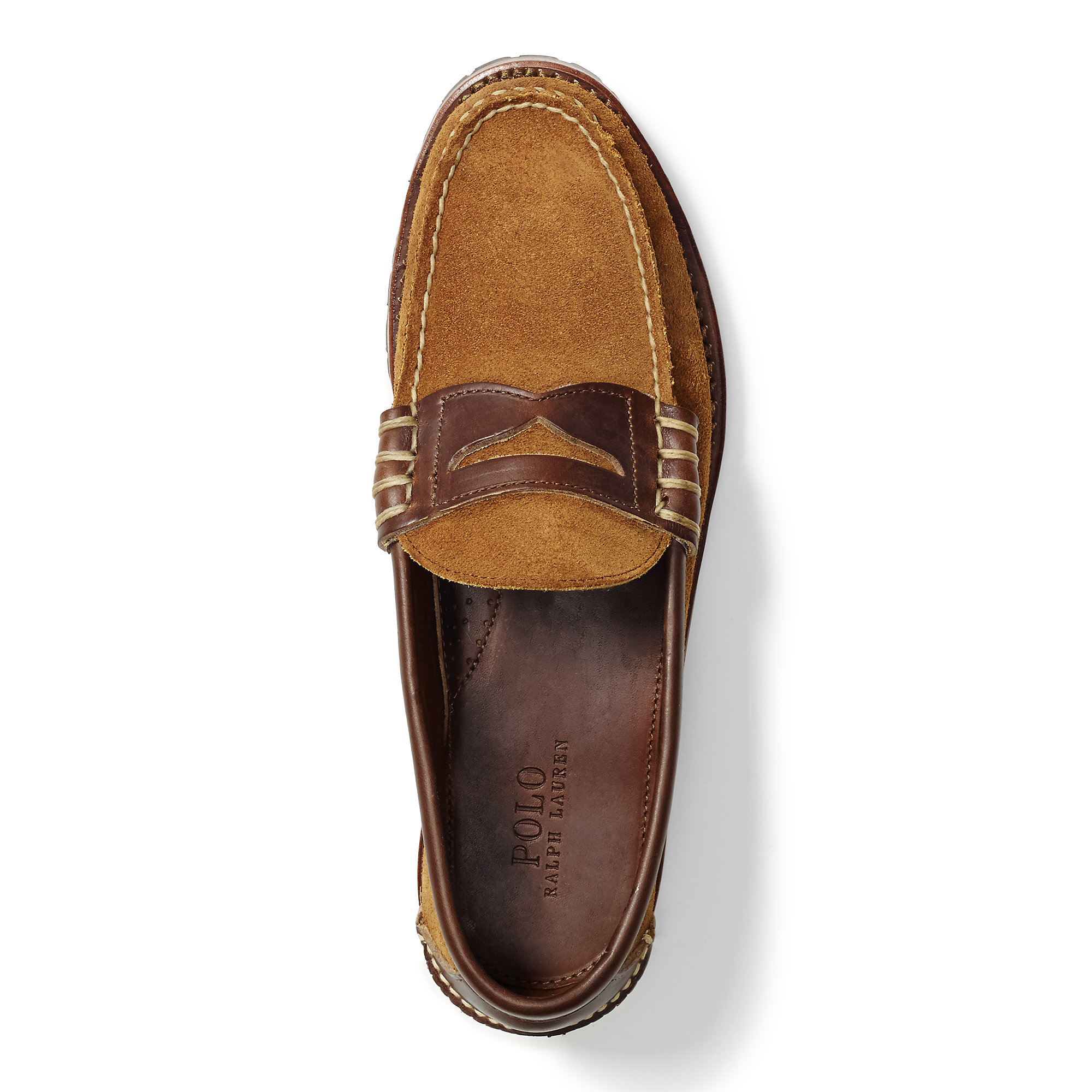 Polo Ralph Lauren Kelton Suede Penny Loafer in Brown for ...
