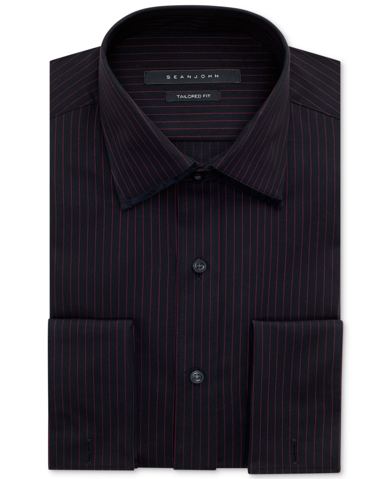 Sean John Berry Stripe French Cuff Shirt In Purple For Men