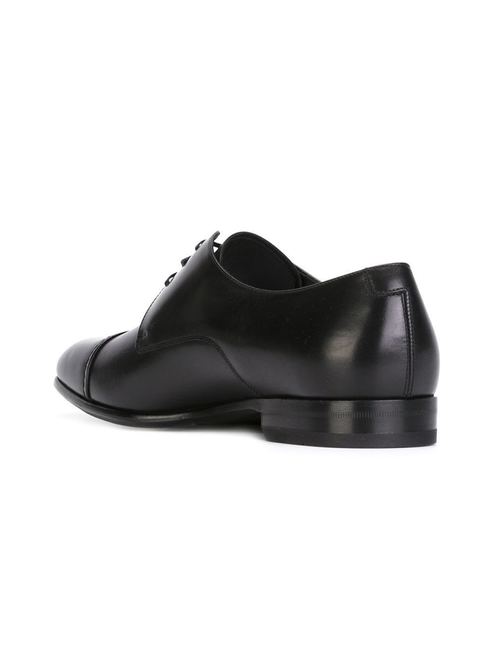 ferragamo classic derby shoes in black for lyst