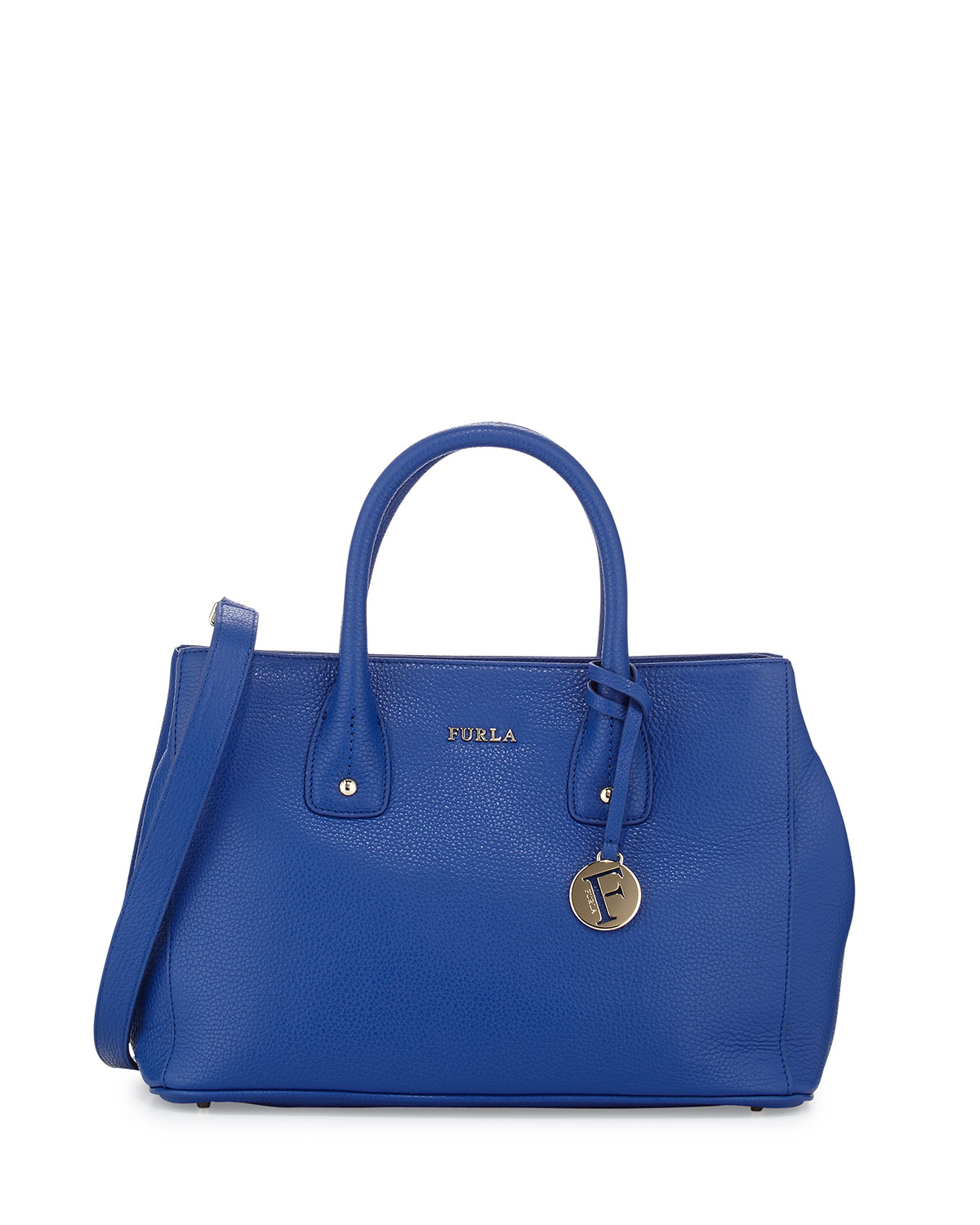 Furla Serena Small Leather Tote Bag in Blue | Lyst