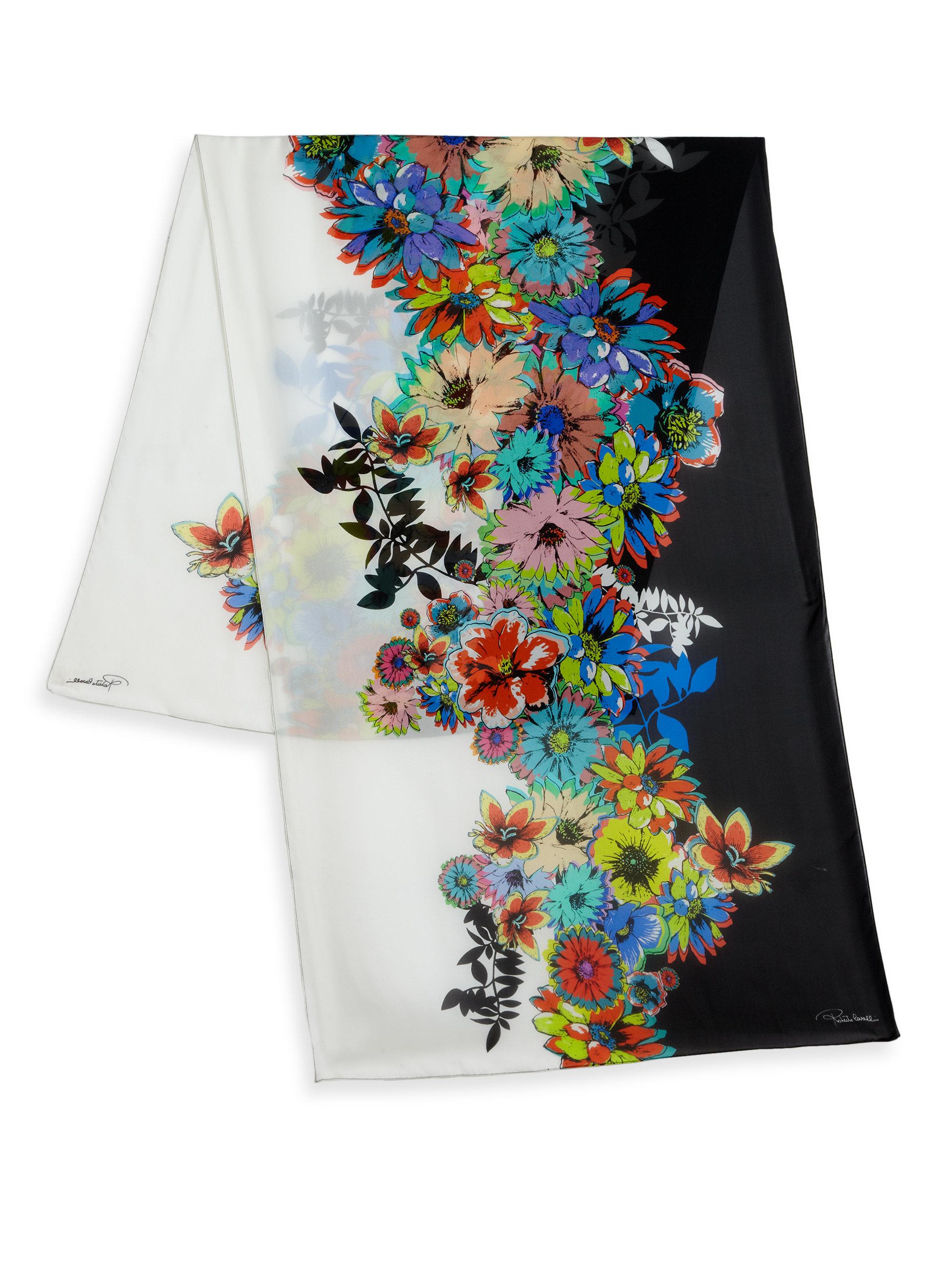 new concept e5dd9 5c9be Roberto Cavalli Flower Power Silk Stole - Lyst