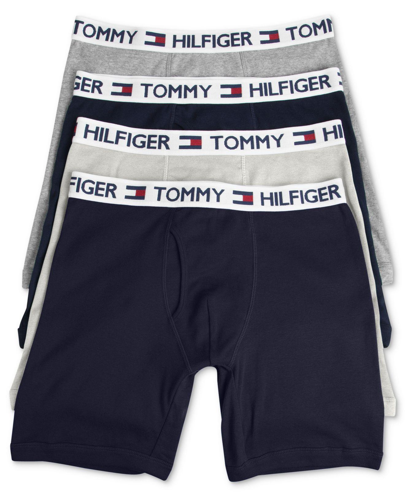 tommy hilfiger cotton boxer brief 4 pack in red for men lyst. Black Bedroom Furniture Sets. Home Design Ideas