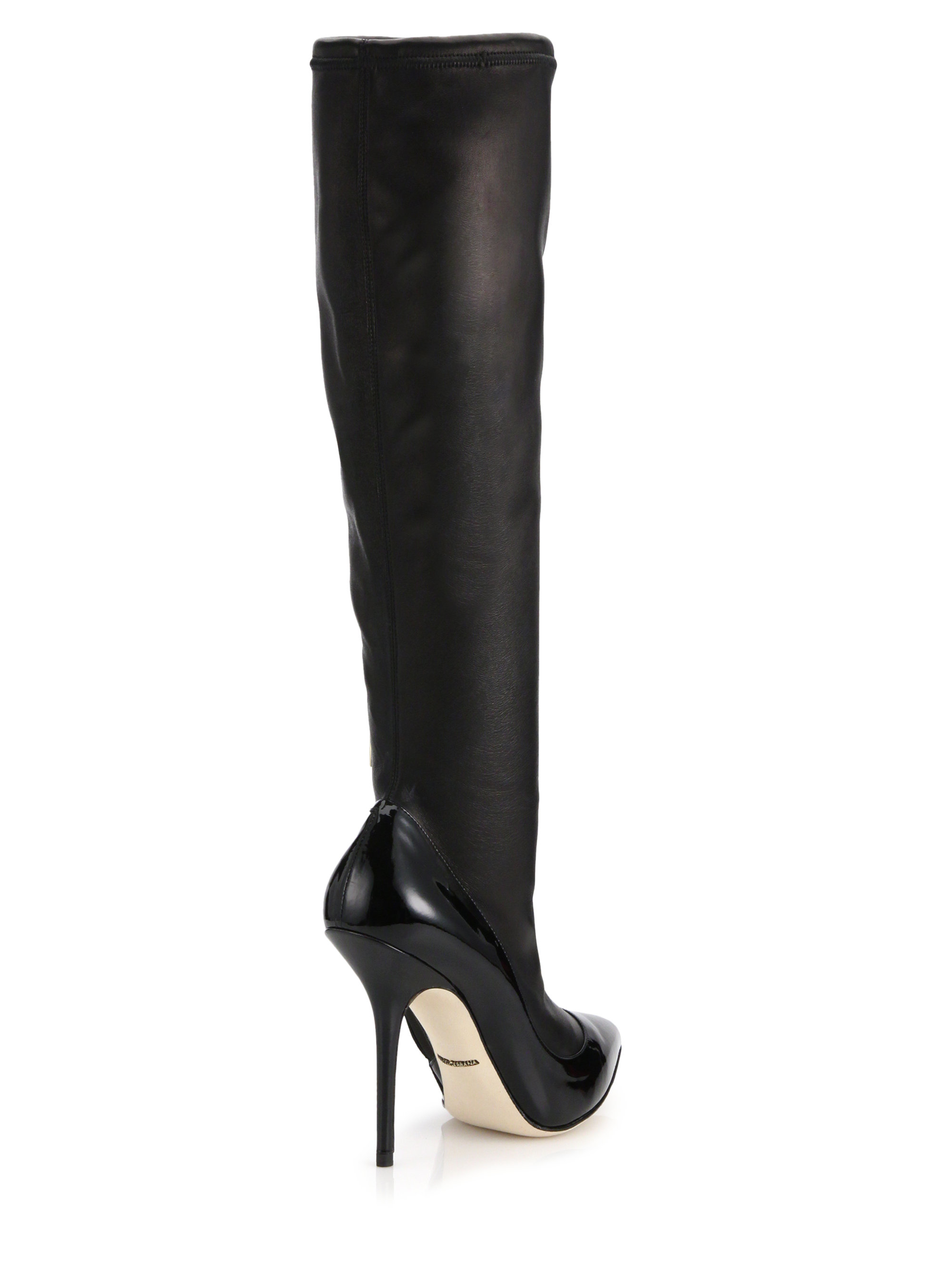 Dolce & Gabbana Patent Leather Booties really online aGzot