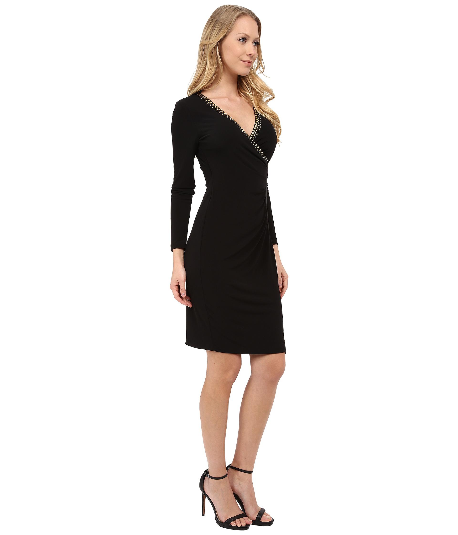 Calvin klein dresses black long sleeve