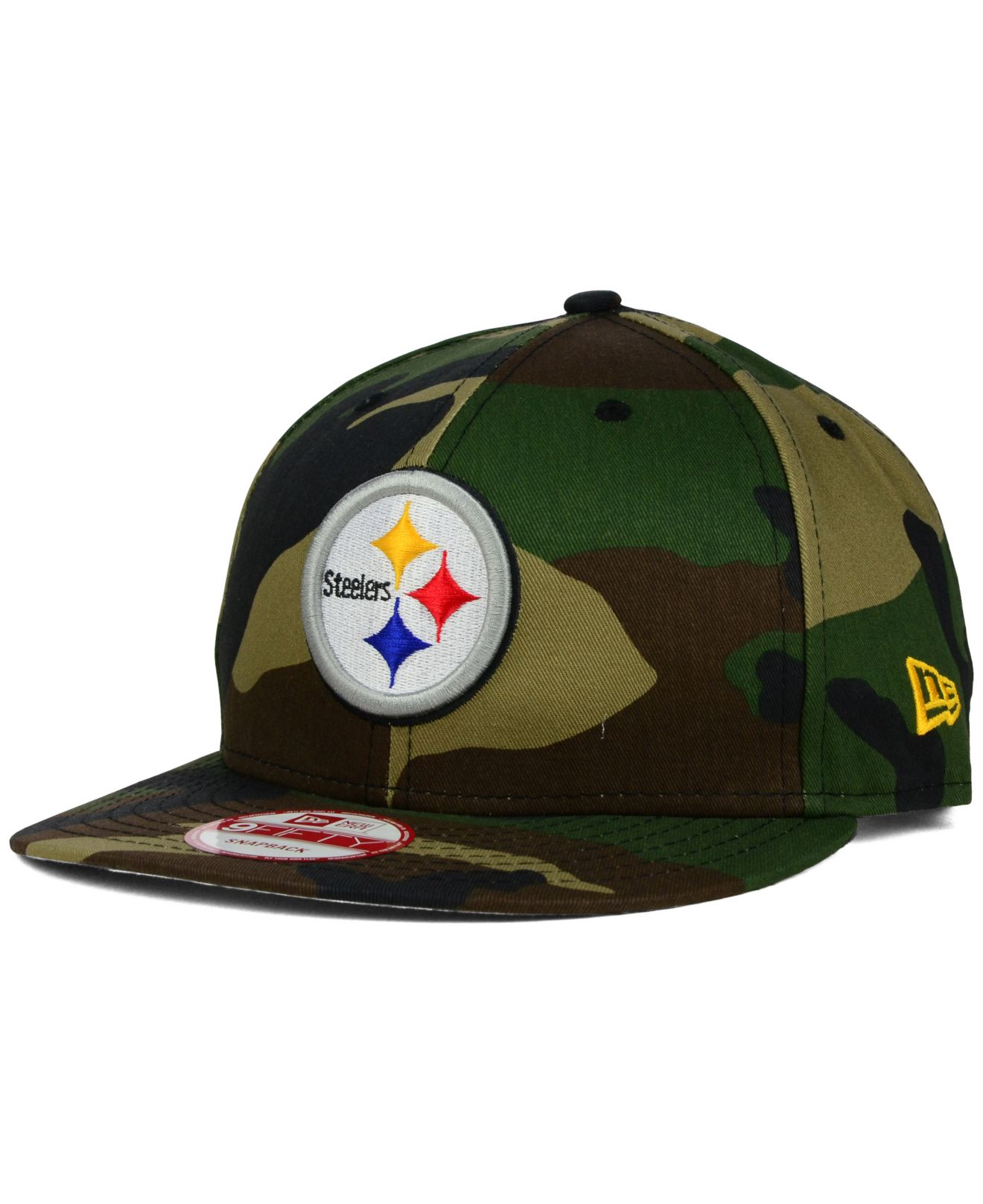 df7f0b799e2 Lyst - Ktz Pittsburgh Steelers Woodland Camo Team Color 9Fifty ...