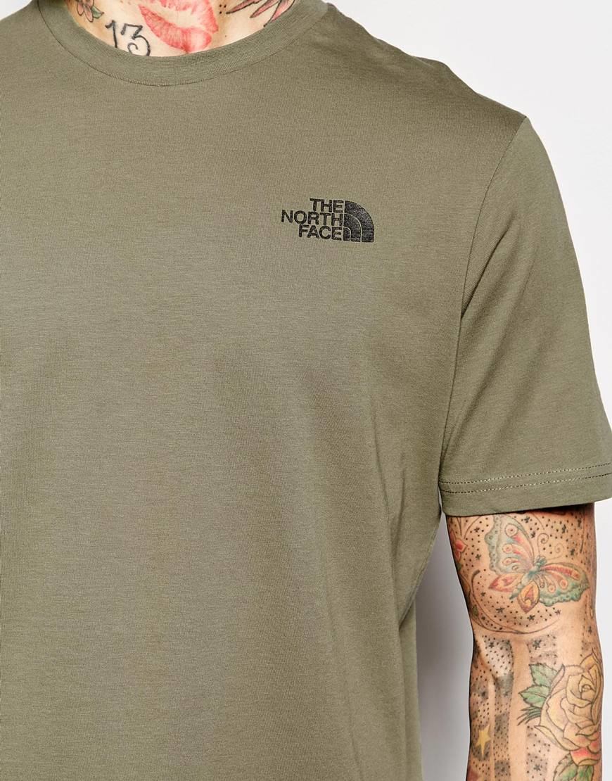 01fc39b42 The North Face Green T-shirt With Red Box Logo for men