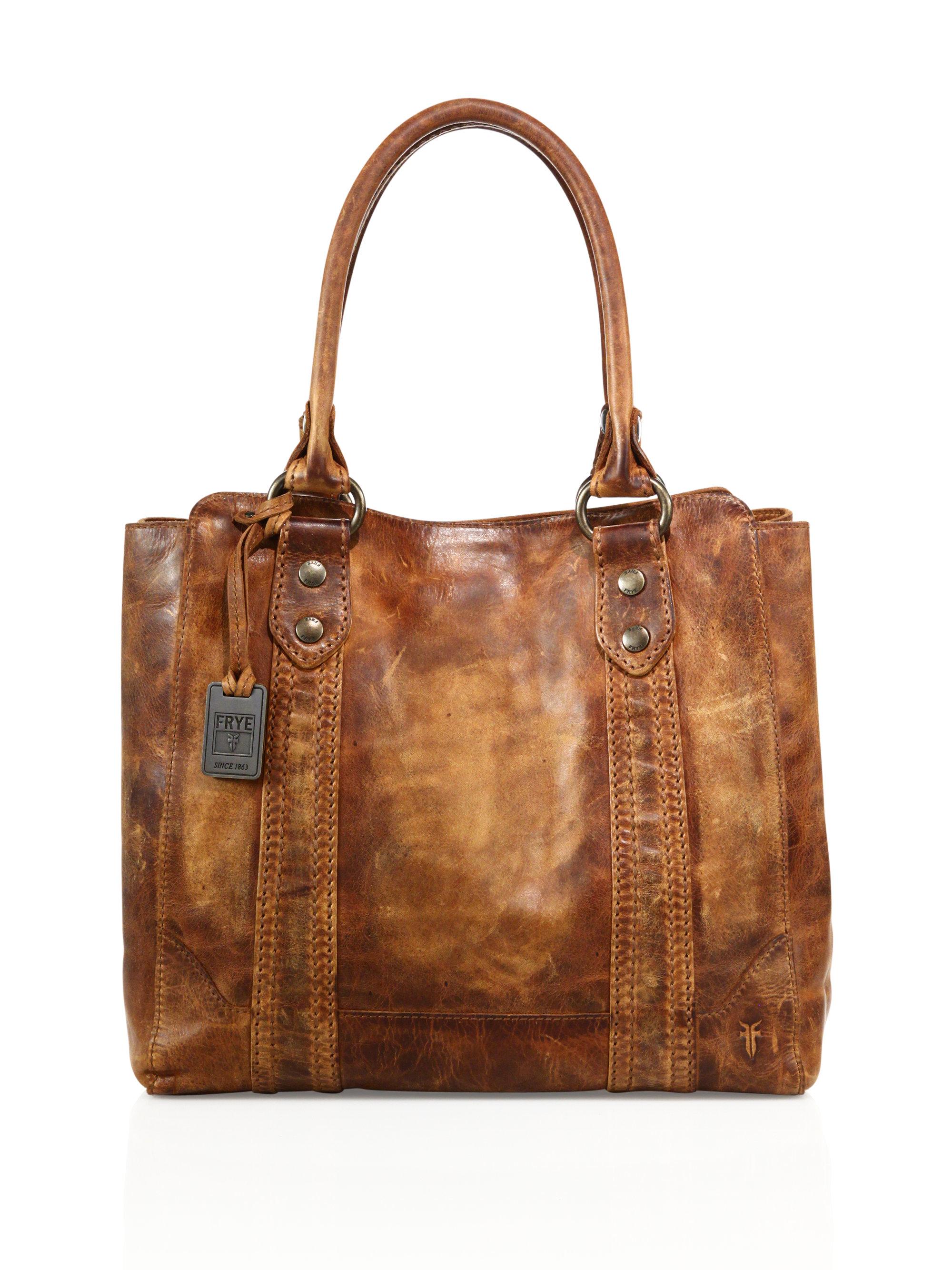 Frye Melissa Tote Bag In Brown Lyst