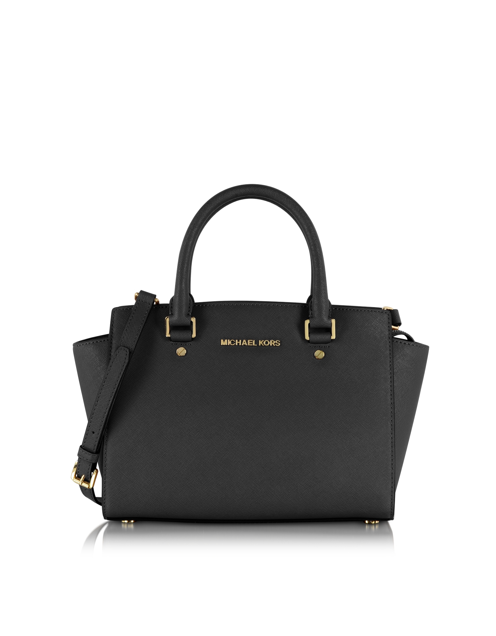 Michael kors Selma Medium Saffiano Leather Top-zip Satchel ...