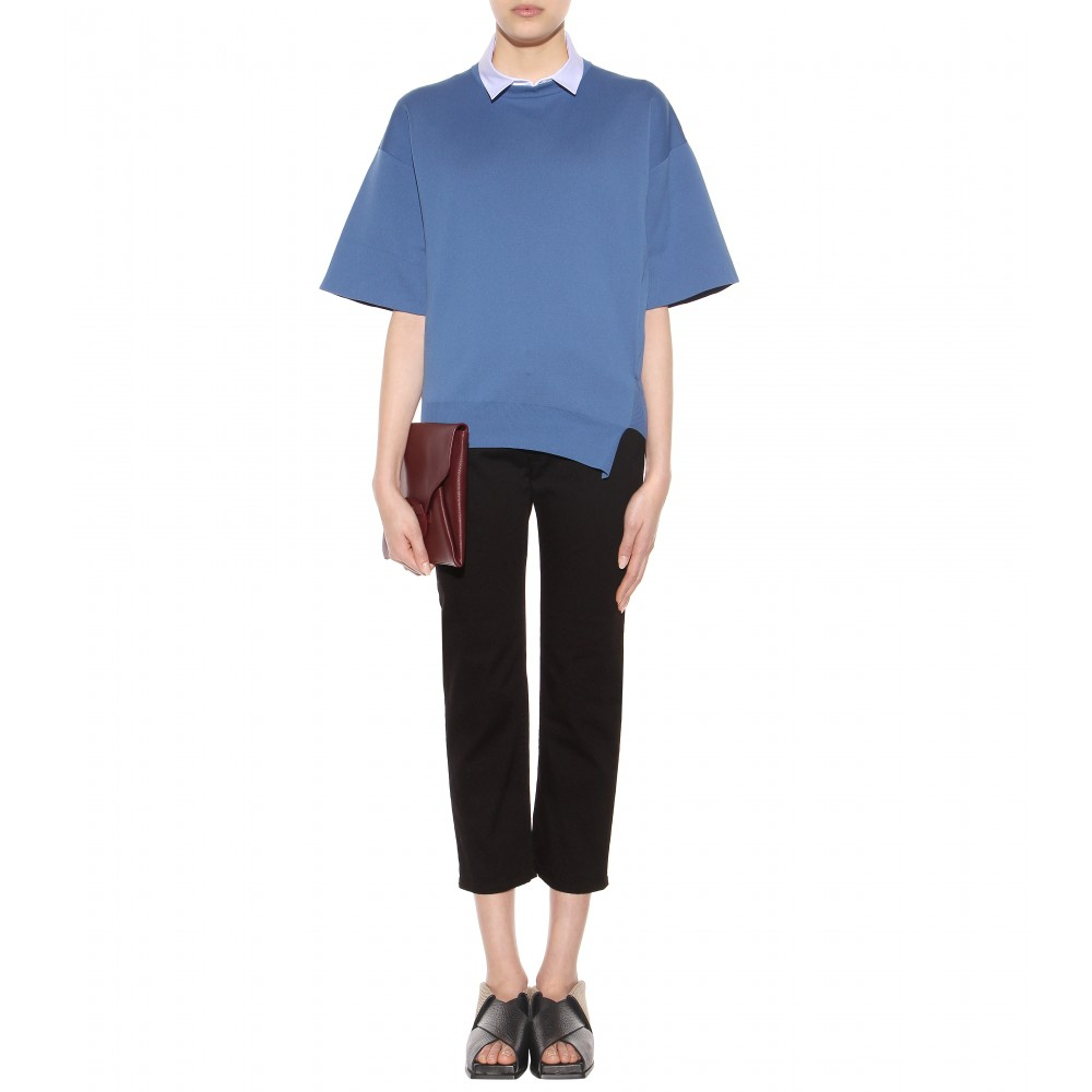 Acne Studios Row Relaxed-fit Straight Cropped Jeans in Black