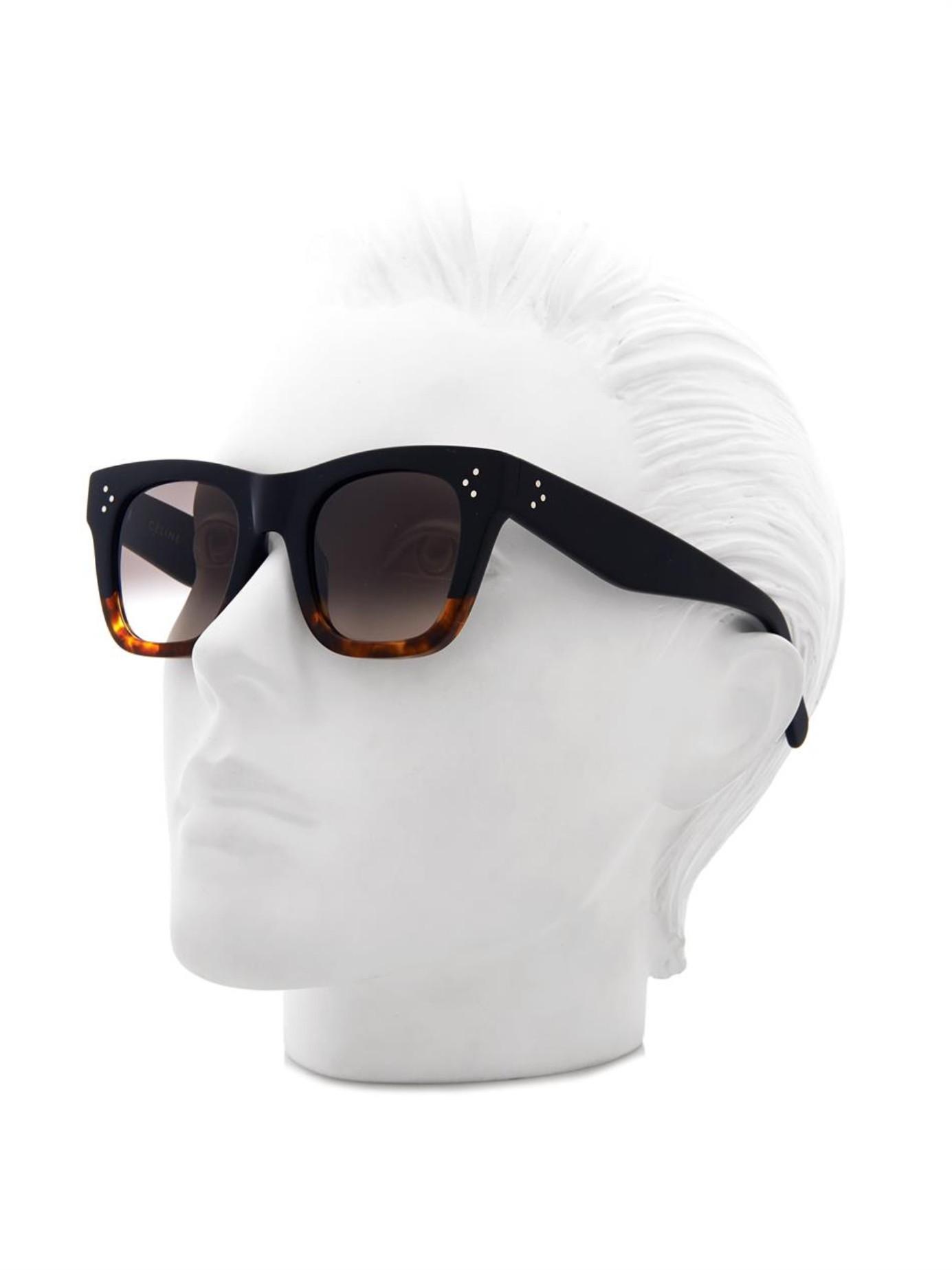 5415dae633a94 Black Celine Square Glasses