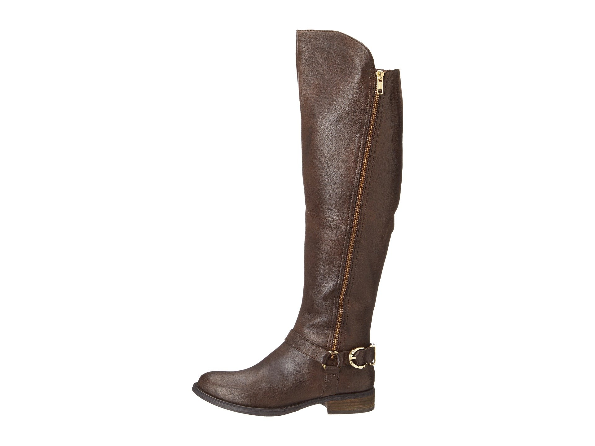03e2821d07c Lyst - Steve Madden Skippur Leather Tall Riding Boots in Brown