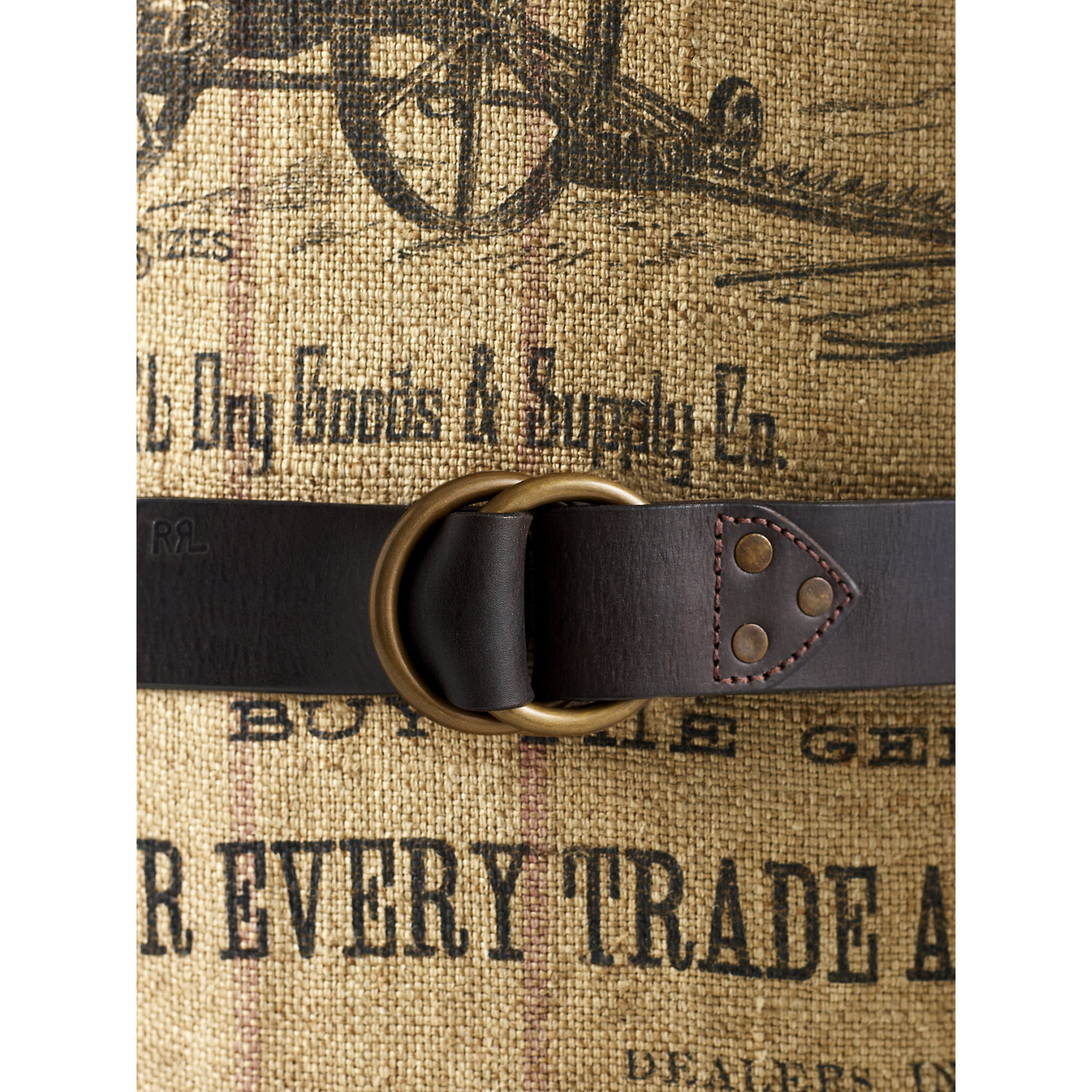 Rrl Leather Double O Ring Belt In Brown For Men Lyst