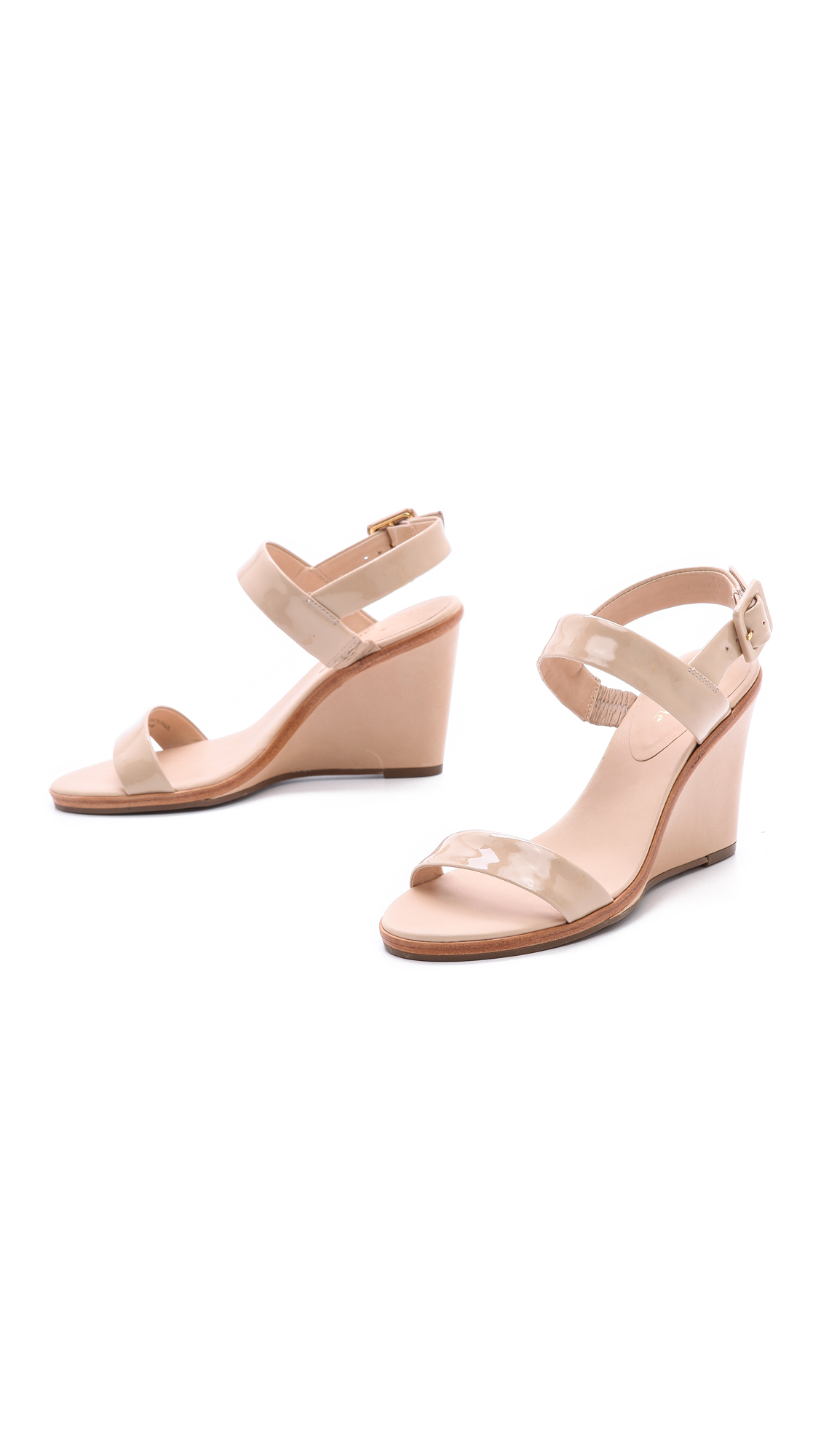 c8b9b49f5b8c Lyst - Kate Spade Nice Wedge Sandals Powder in Natural