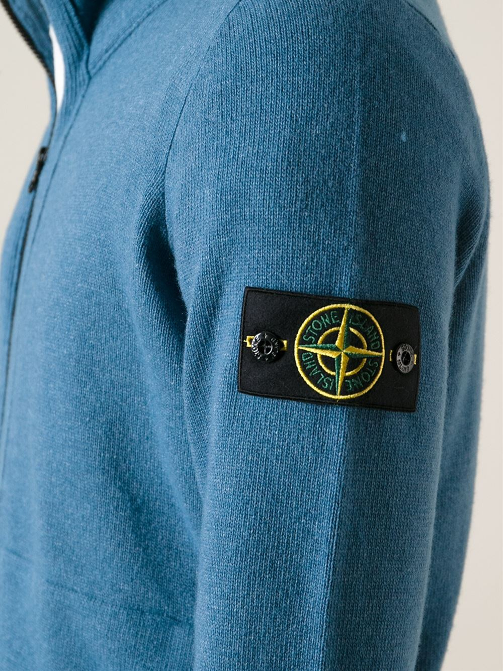 Stone island Zip Cardigan in Blue for Men - Lyst