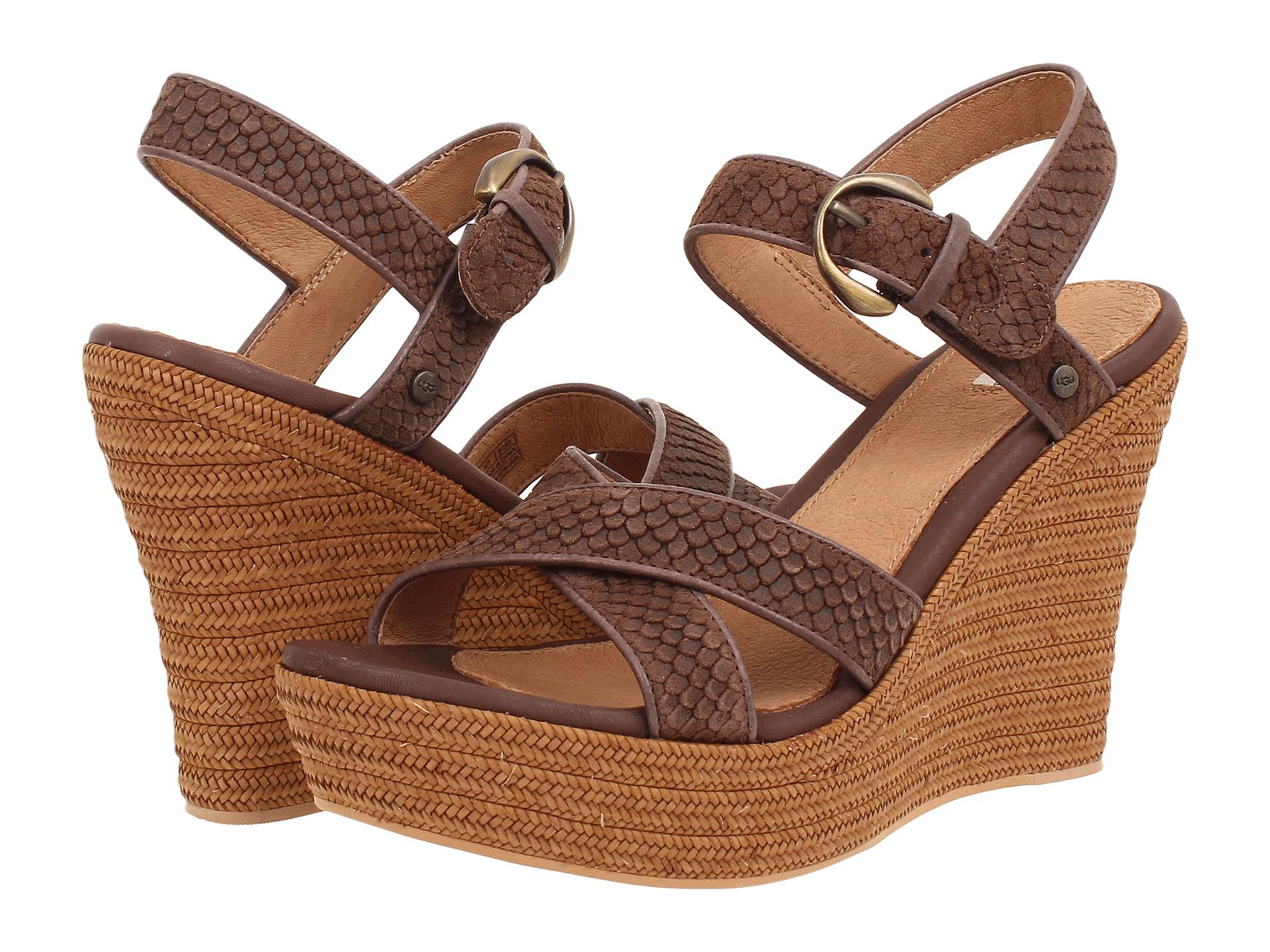 Womens Sandals UGG Jazmine Mar Chocolate Suede