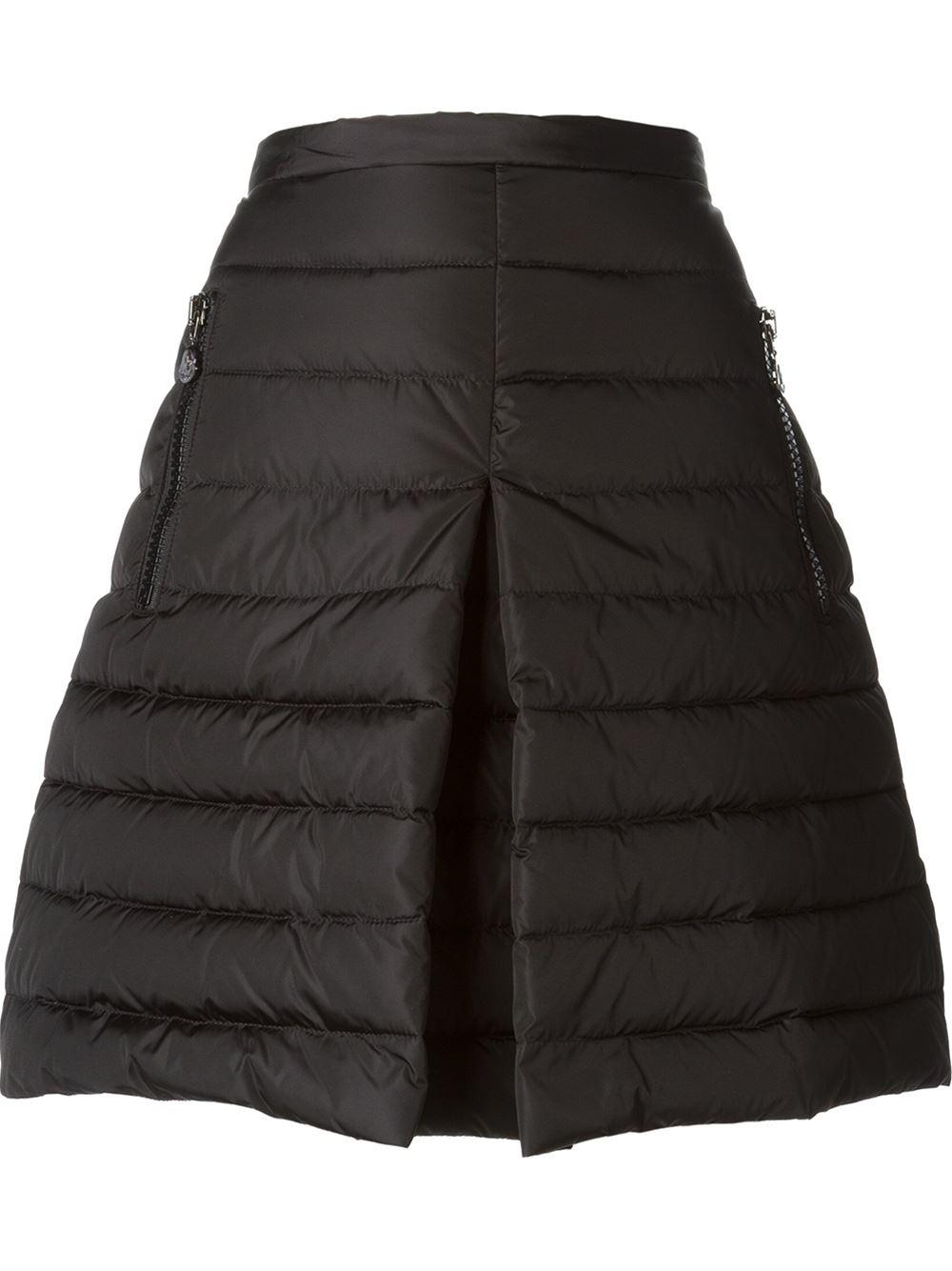 Moncler Padded Aline Skirt In Black