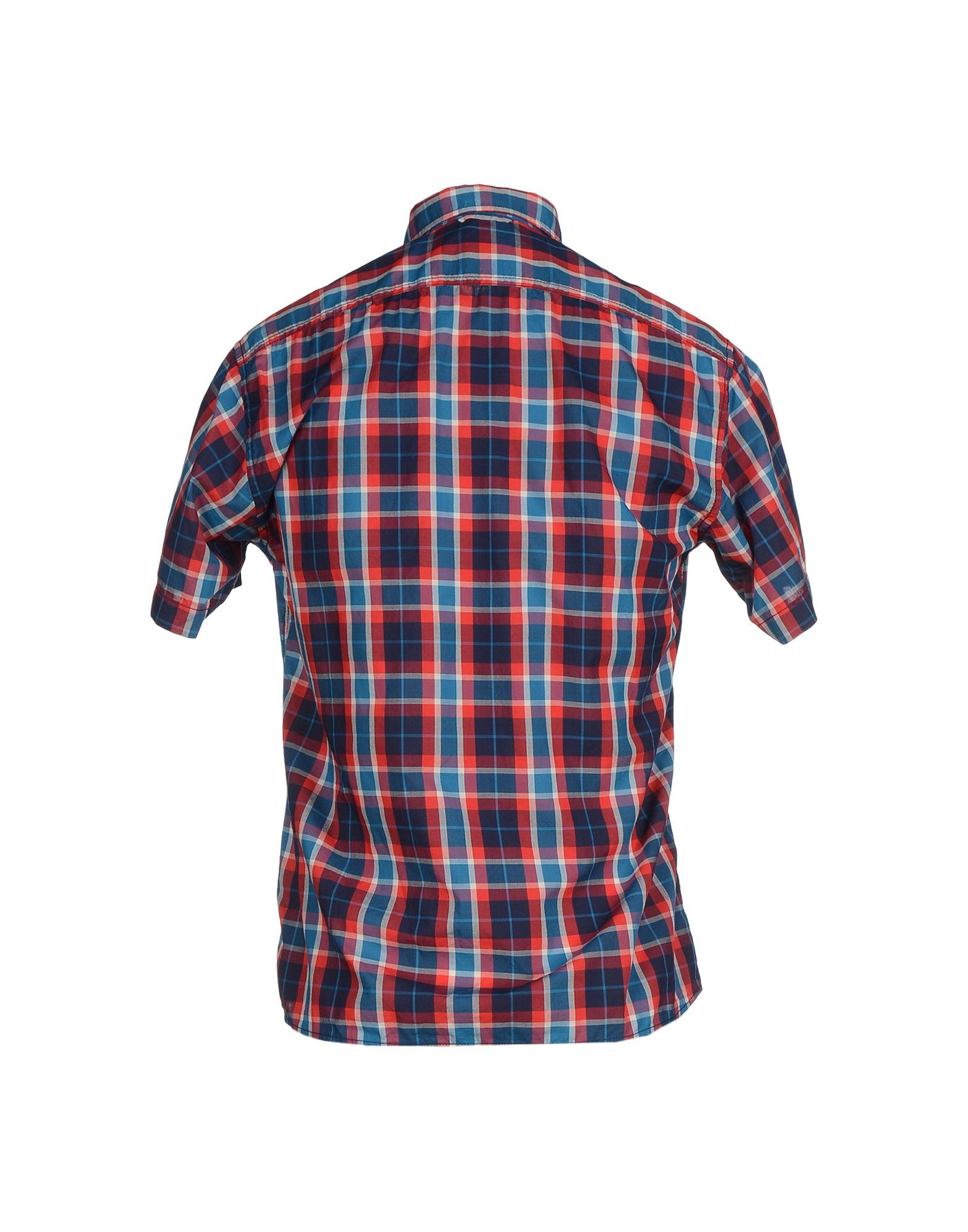 Franklin Marshall Shirt In Red For Men Brick Red Lyst