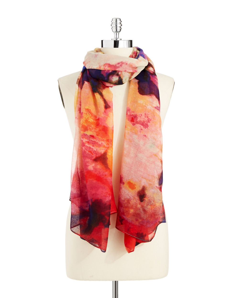 lord watercolor scarf in pink lyst
