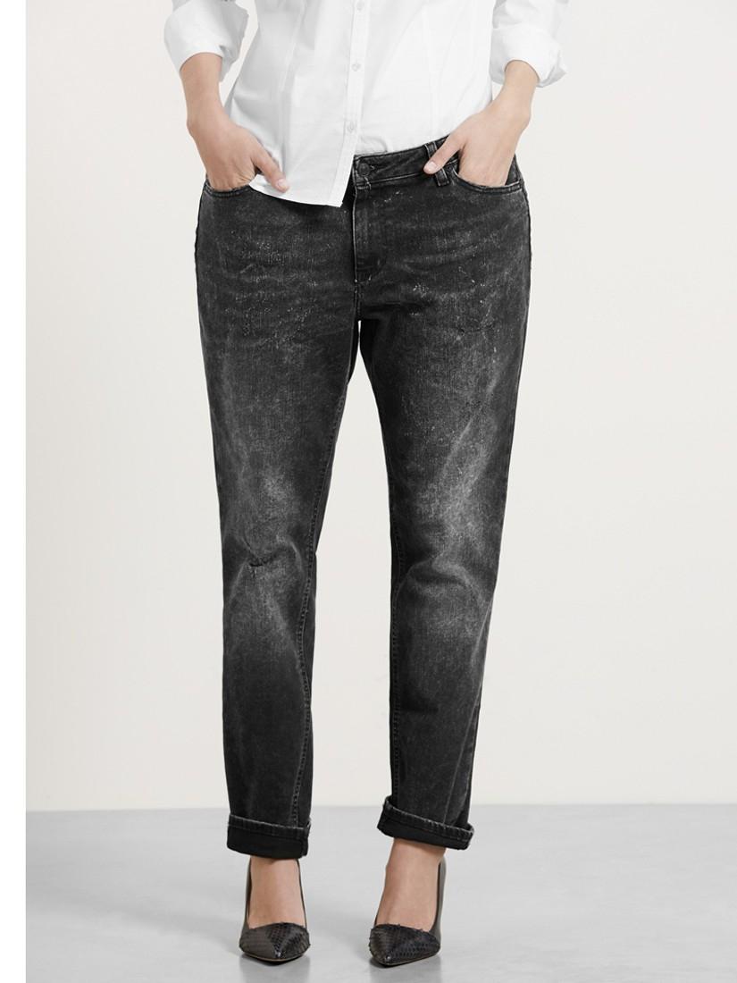 Violeta by Mango Boyfriend Laura Jeans in Grey