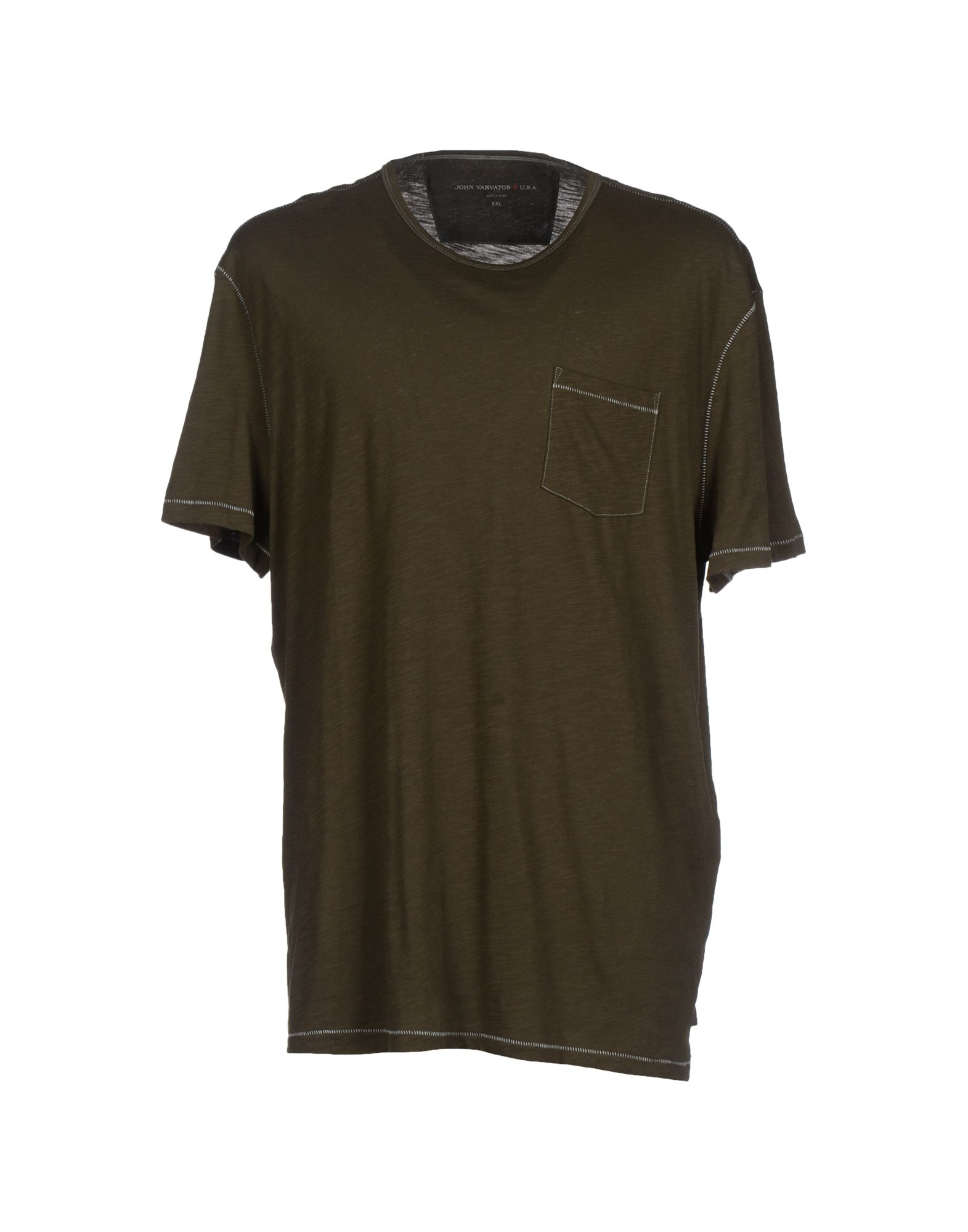 john varvatos t shirt in green for men military green lyst