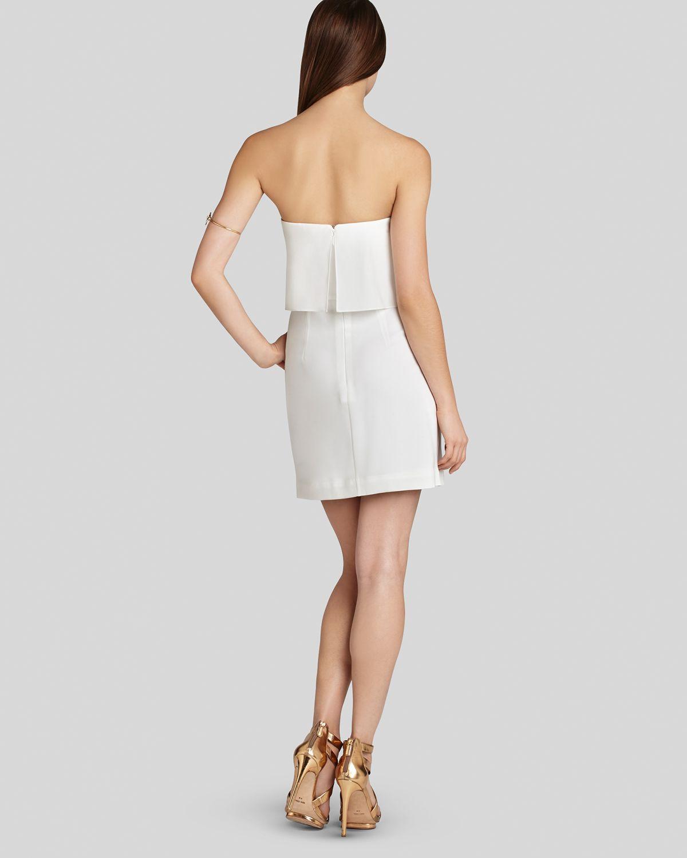 Lyst Bcbgmaxazria Dress Kate Strapless Blouson In White