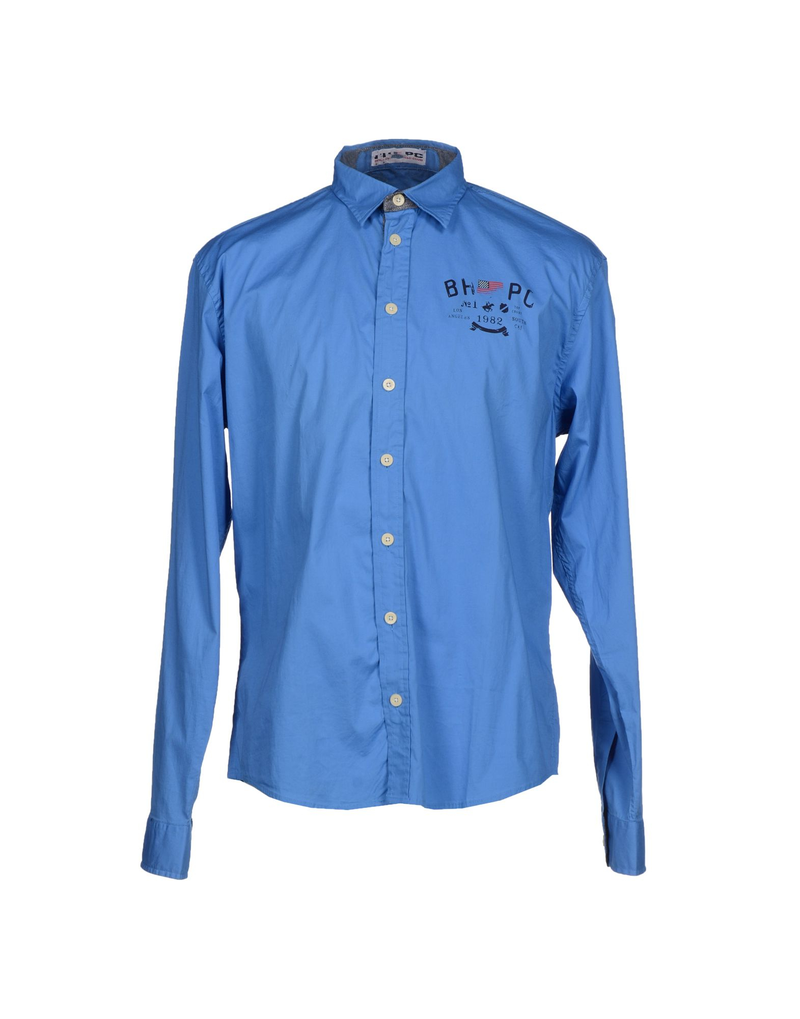 Beverly Hills Polo Club Shirt In Blue For Men Pastel Blue