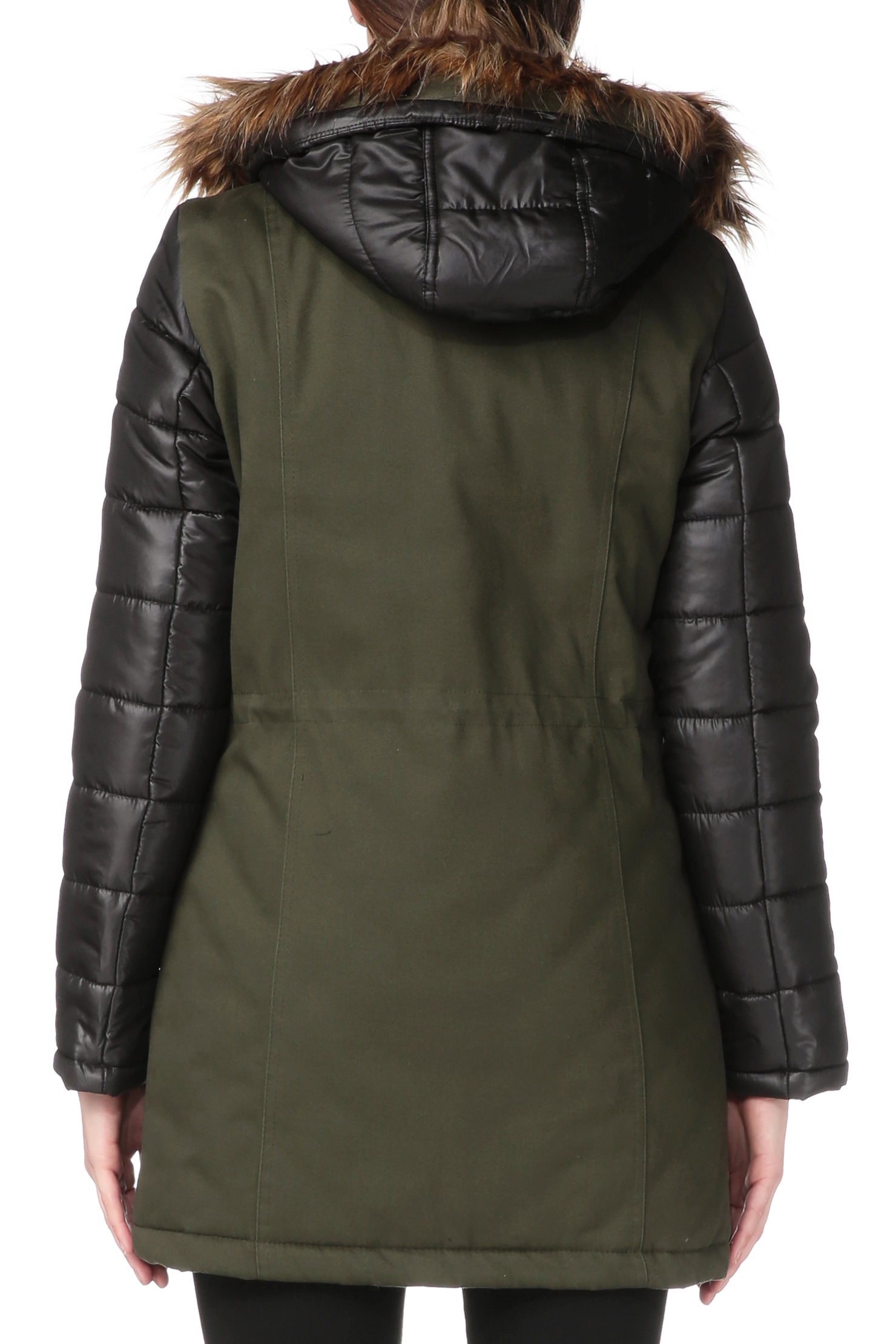 vero moda trench parka in green lyst. Black Bedroom Furniture Sets. Home Design Ideas