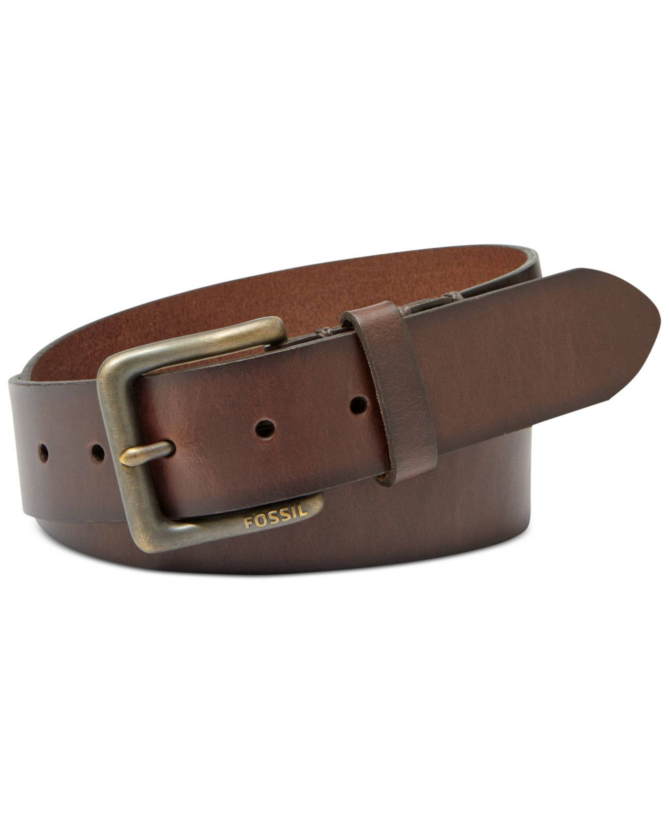 fossil artie belt in brown for lyst