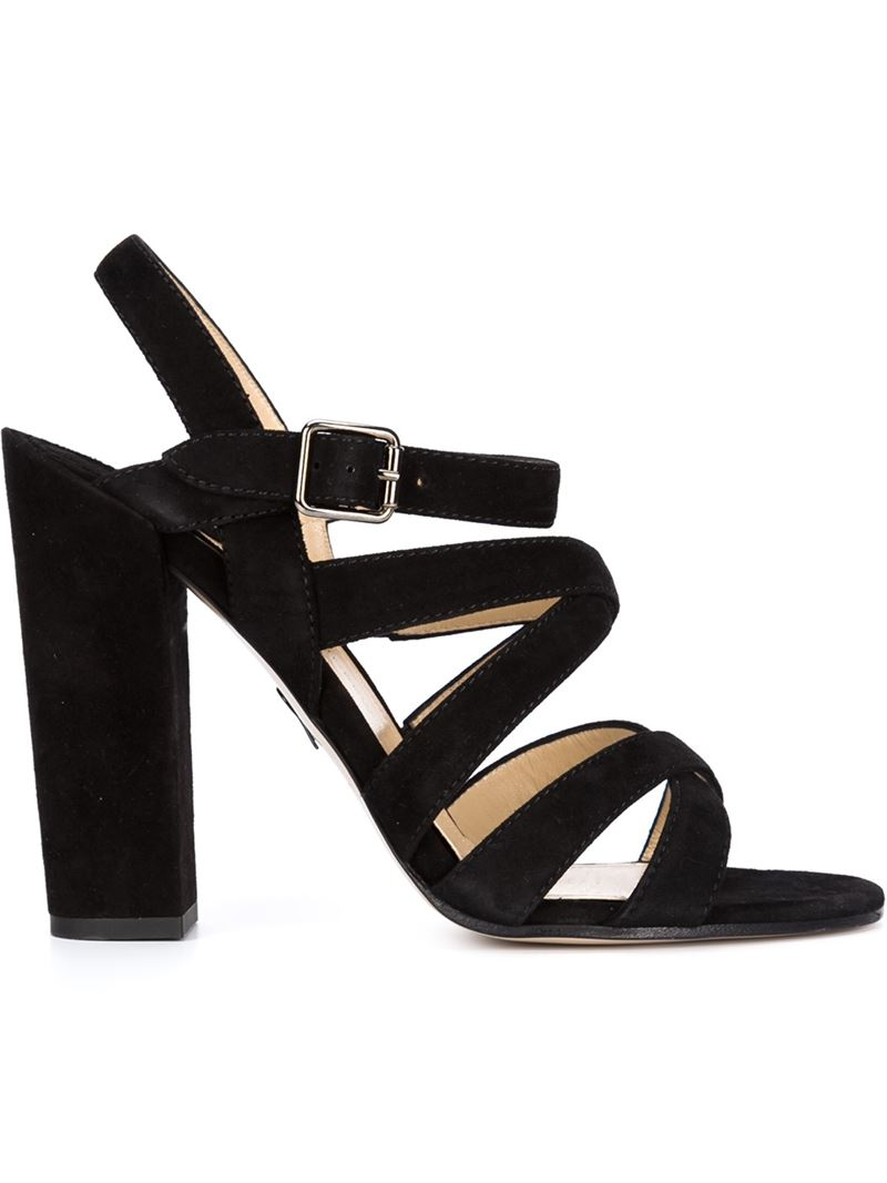 9d29f8e78f6 Paul Andrew Black Strappy Chunky-Heel Sandals