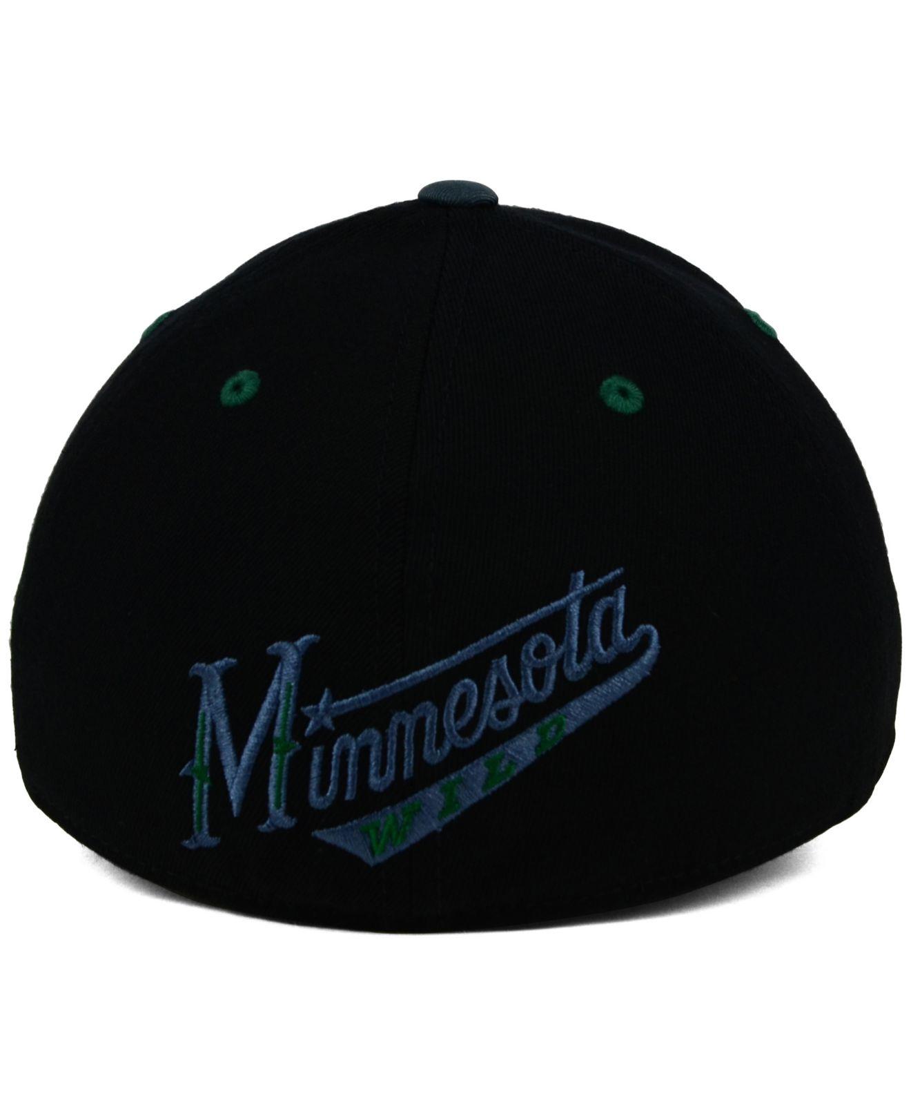 4ffbf31b398 Reebok Minnesota Wild Tonal Logo Flex Cap in Black for Men Black Gray
