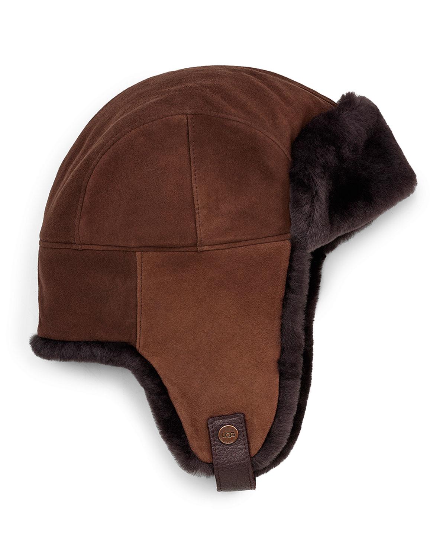 daf8b82900d Lyst - UGG Shearling Fur Trapper Hat in Brown for Men