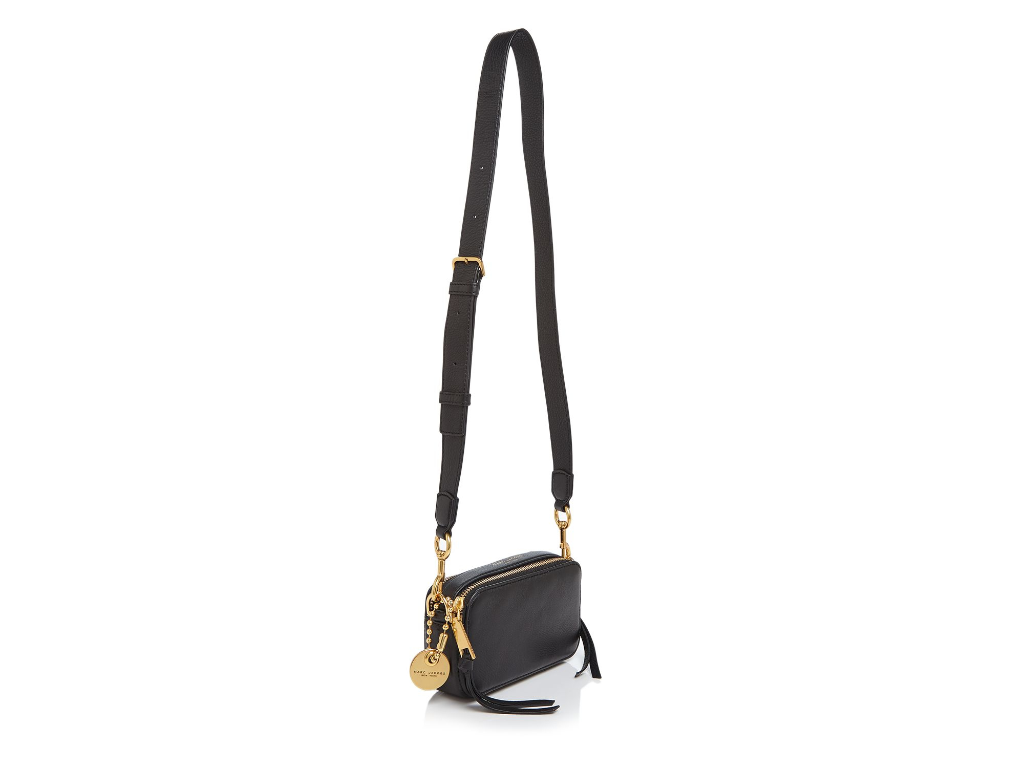 Marc Jacobs Recruit Crossbody Leather Camera Bag in Black