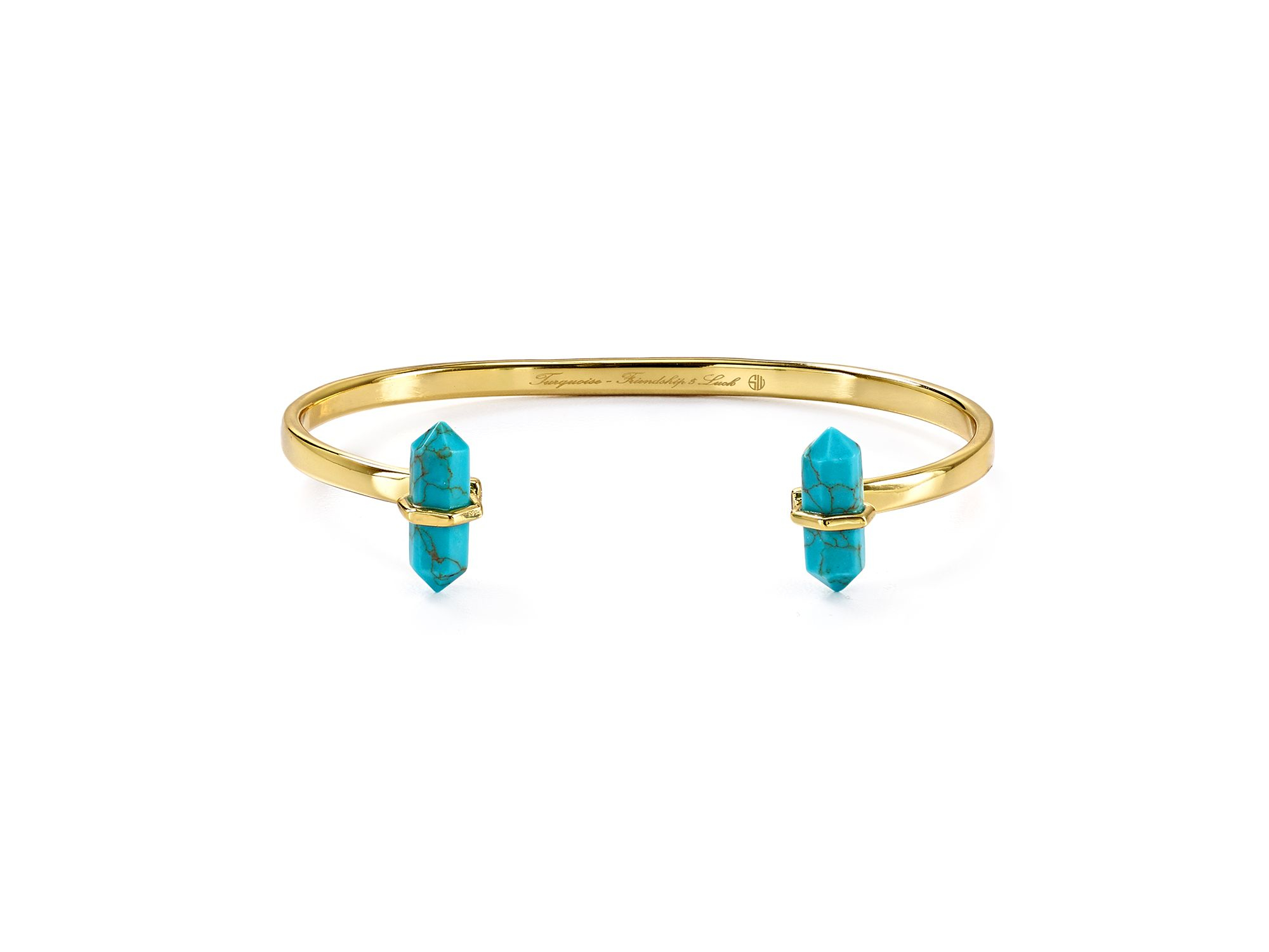 Samantha Wills Band Of Outsiders Bangle in Gold (Blue)