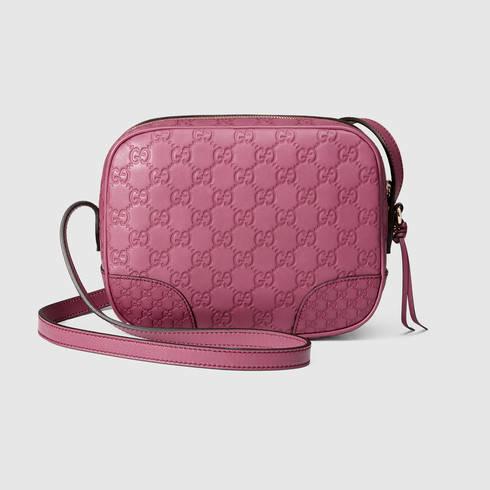 66b9e88d7a1 Lyst - Gucci Bree Guccissima Mini Messenger Bag in Pink