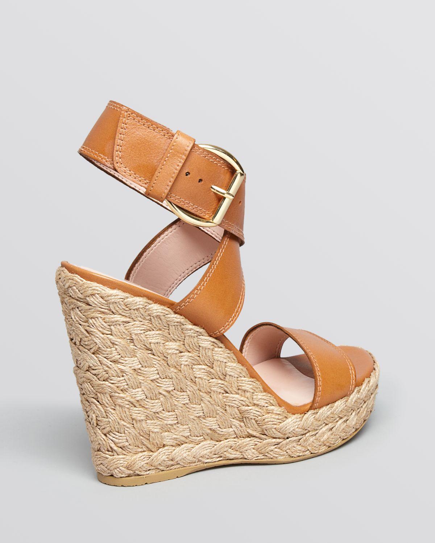 Lyst Stuart Weitzman Platform Espadrille Wedge Sandals