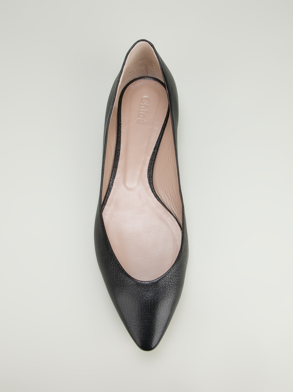 pick up more photos cozy fresh Chloé Pointed Toe Ballet Flat in Black - Lyst