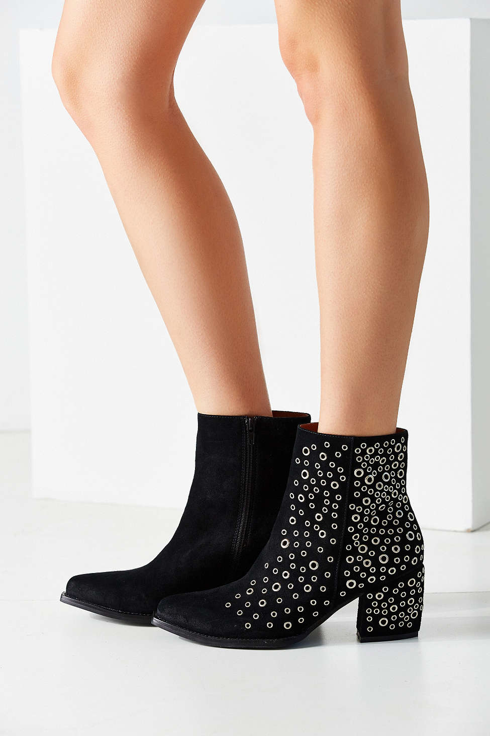 Lyst Jeffrey Campbell Bravado Eyelet Ankle Boot In Black