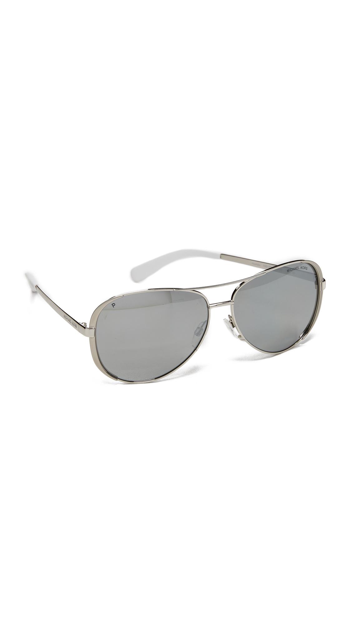 4b5b9b09b700 ... clearance lyst michael kors chelsea polarized sunglasses in metallic  259cb d0a79