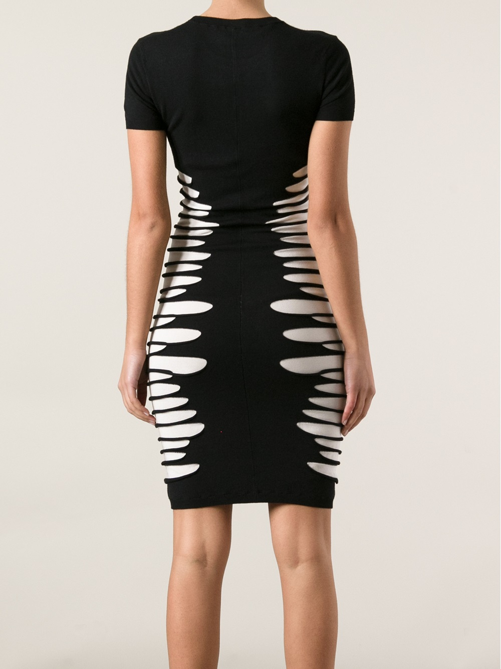 Lyst Mcq Ripped Dress In Black