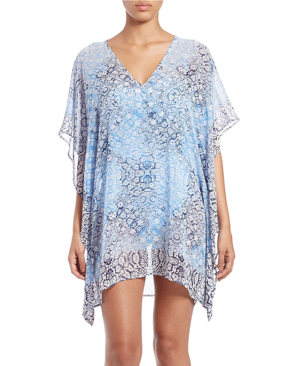 bea5a1c395 Lyst - Tommy Bahama Coral Medallion Cover-up in Blue