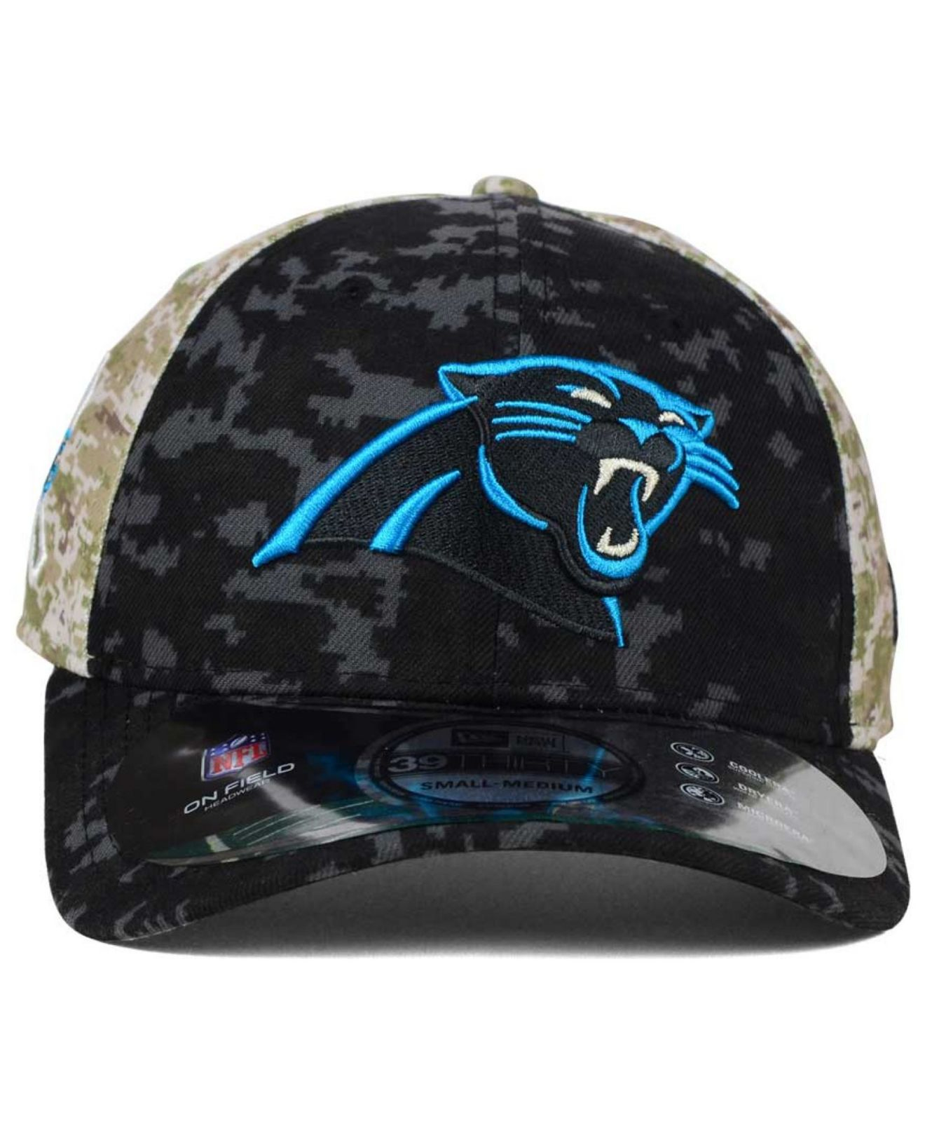 db11ee76e Lyst - KTZ Carolina Panthers Salute To Service 39thirty Cap in Black ...