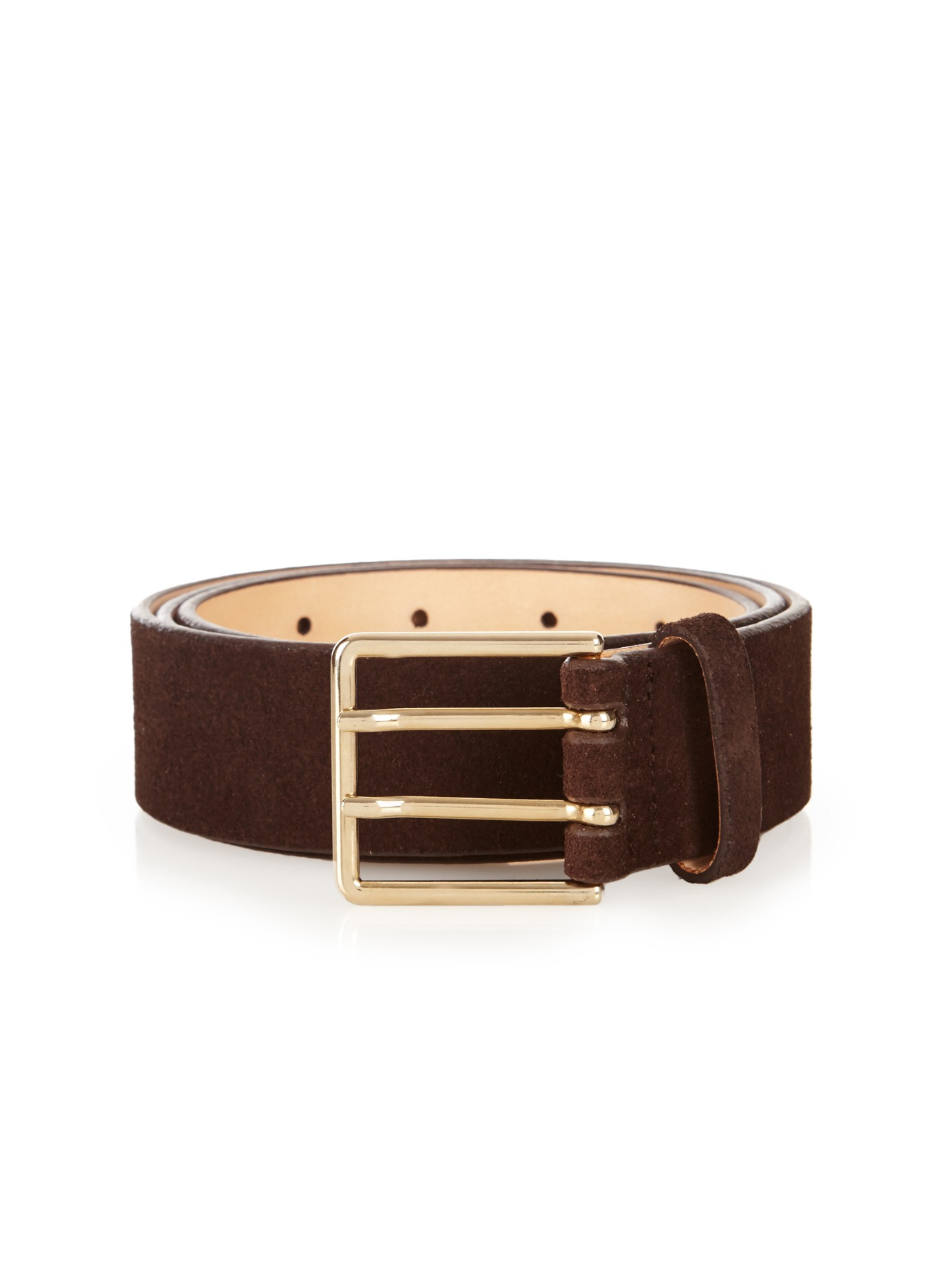 paul smith suede belt in brown for lyst